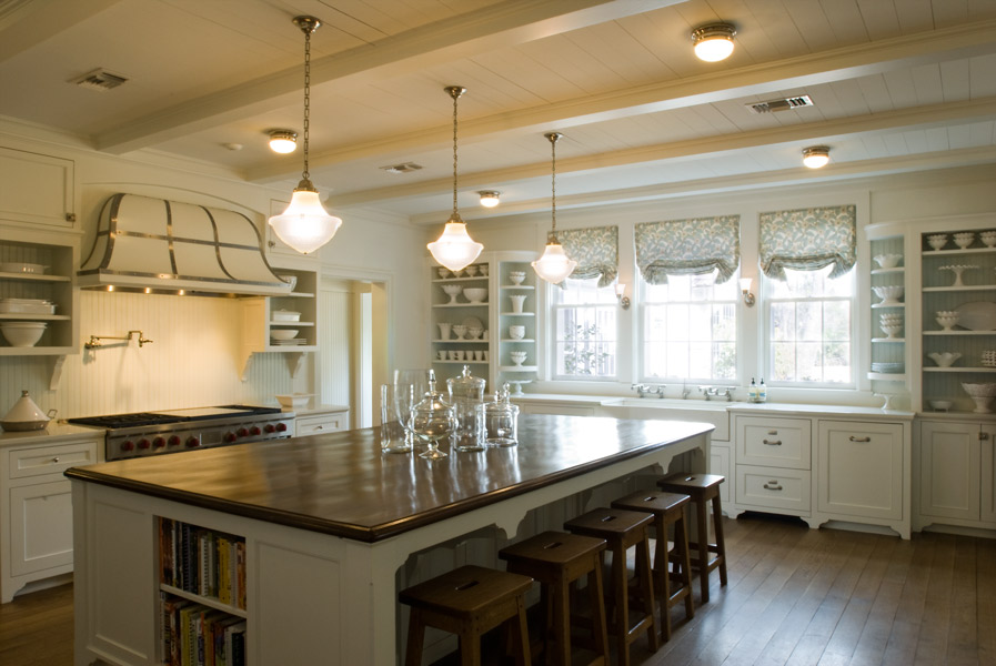 Kitchen, Bonney Brier residence, Houston, Texas, by Curtis & Windham Architects