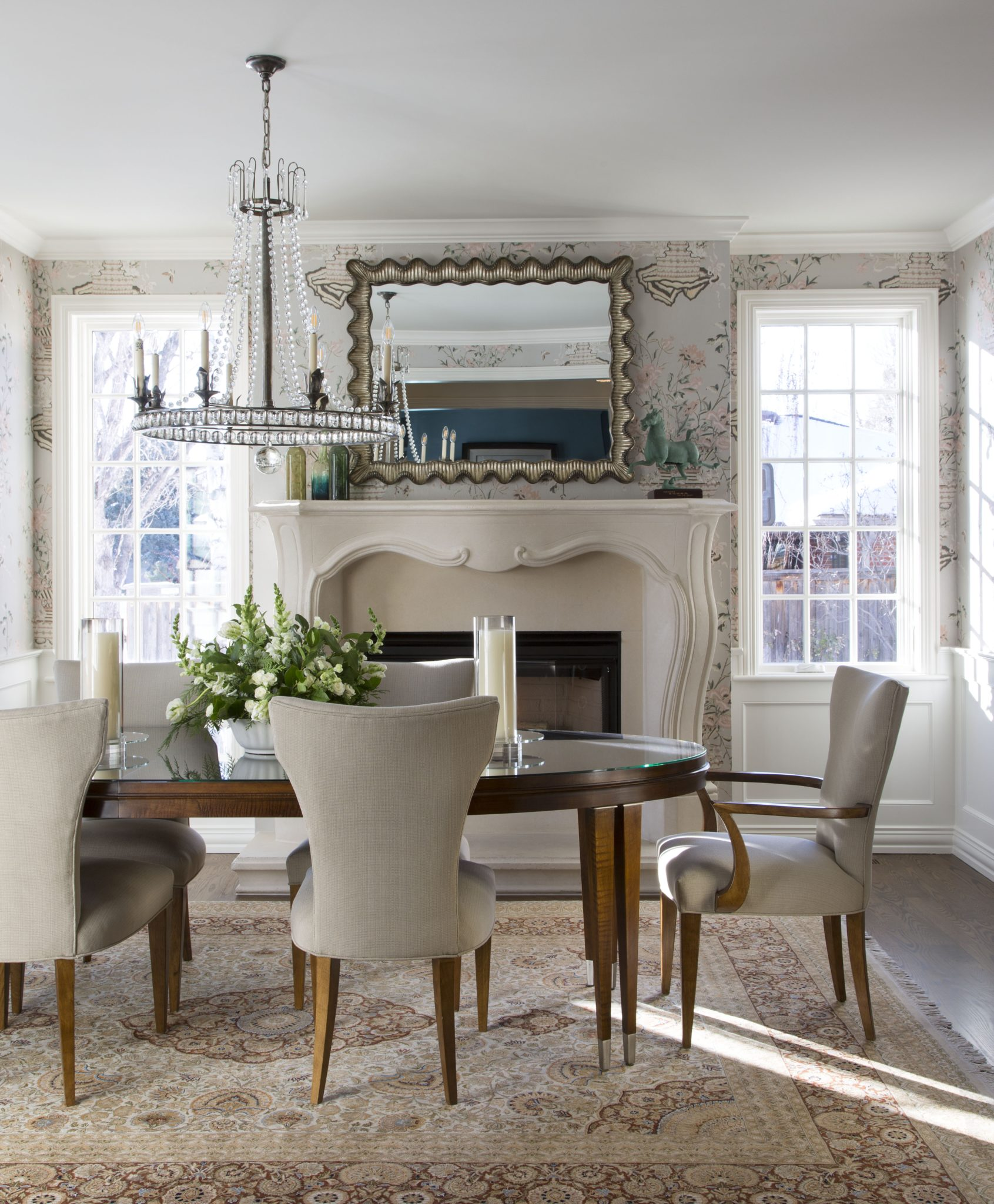 French Chateau in Denver, Colorado; Dining Room by Duet Design Group