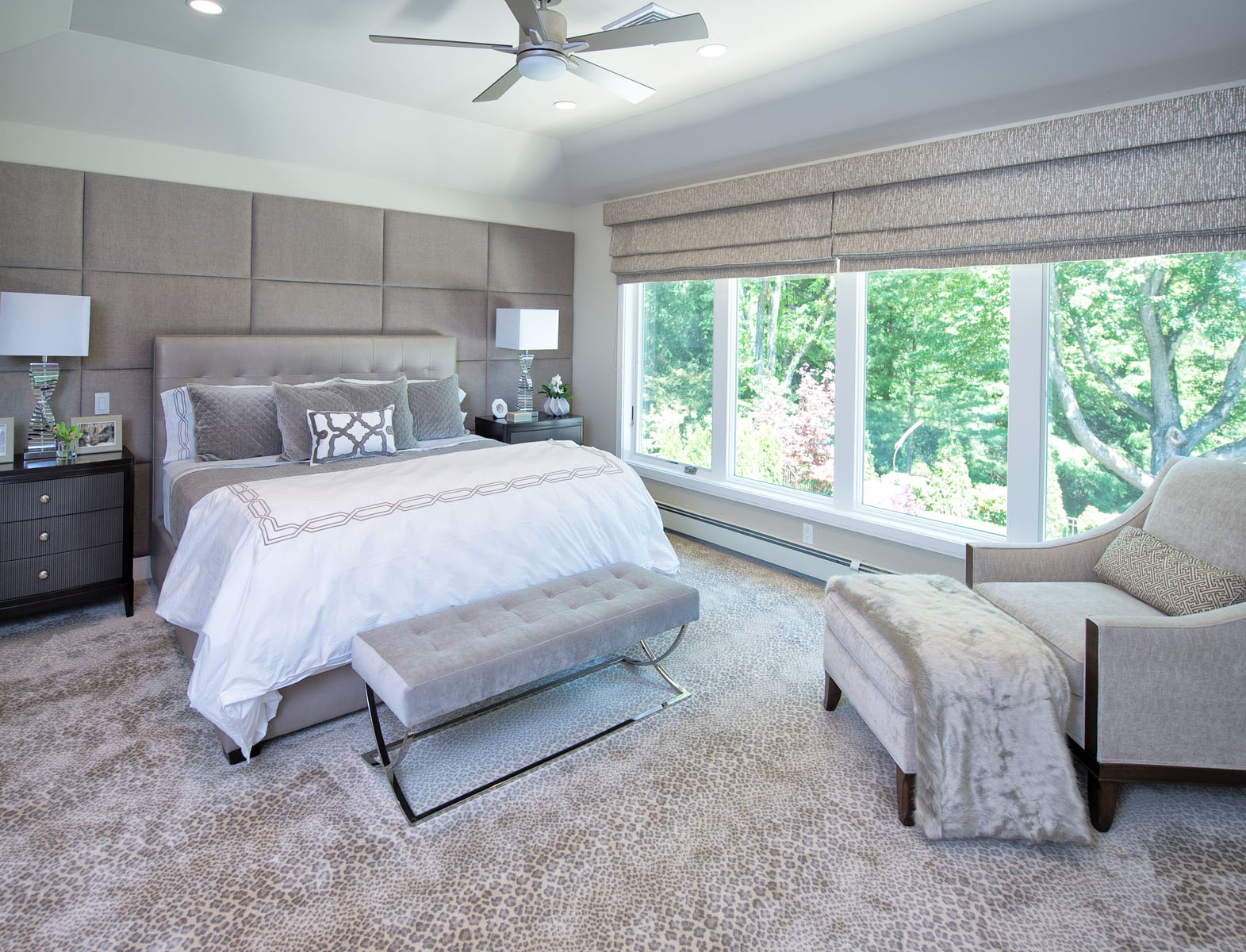 Master bedroom renovation in Bedford, New York, by Lara Michelle Interiors