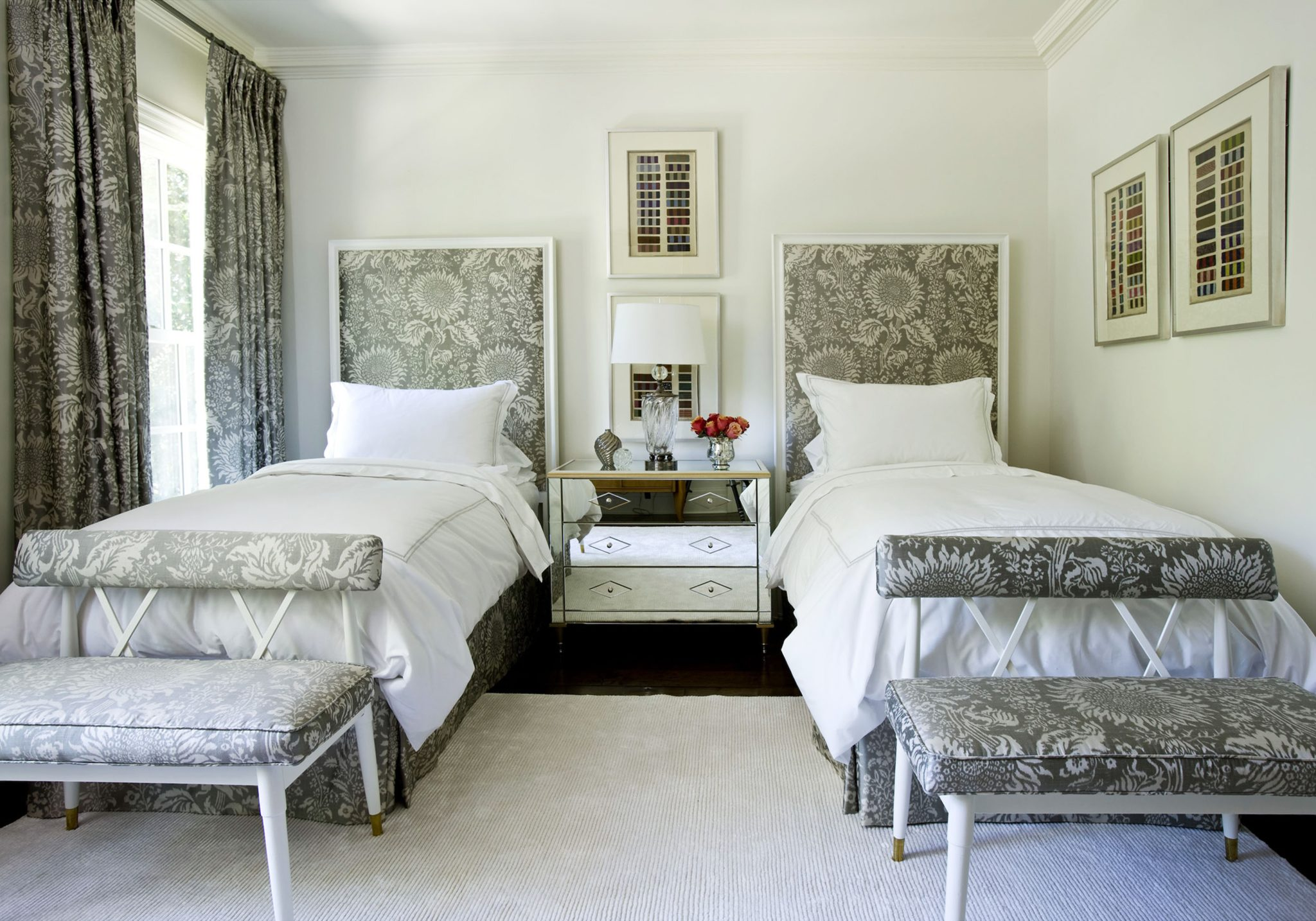 Guest bedroom by Suzanne Kasler Interiors