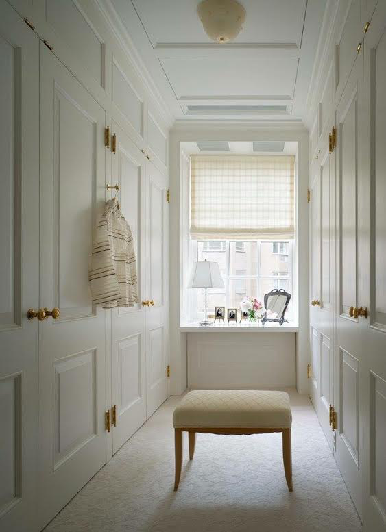 The elegance that is white is the standout in this ladies dressing room by Gomez Associates