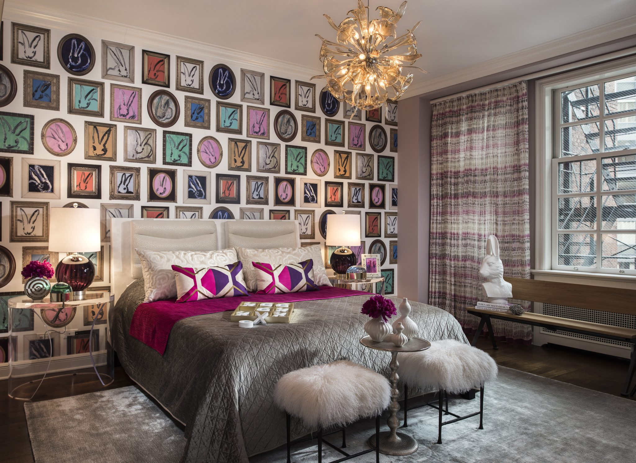 Whimsical bedroom by Donna Mondi Interior Design