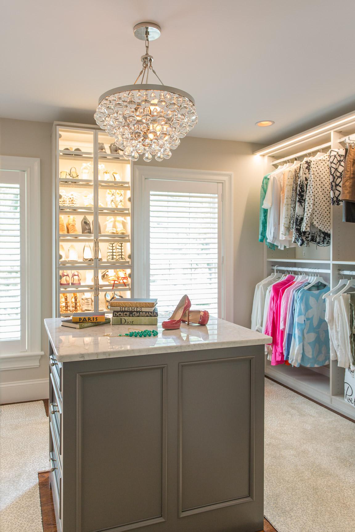 Suburban custom closet by Tiffany Leblanc of LeBlanc Design, LLC