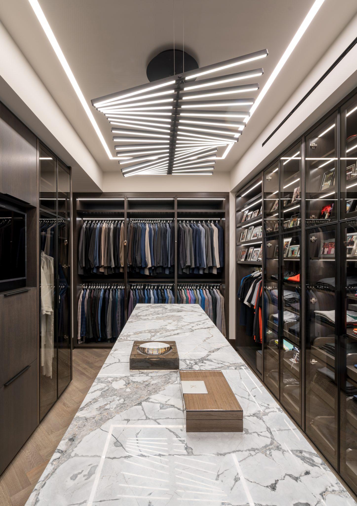 Intracoastal Residence Master Closet by B+G Design