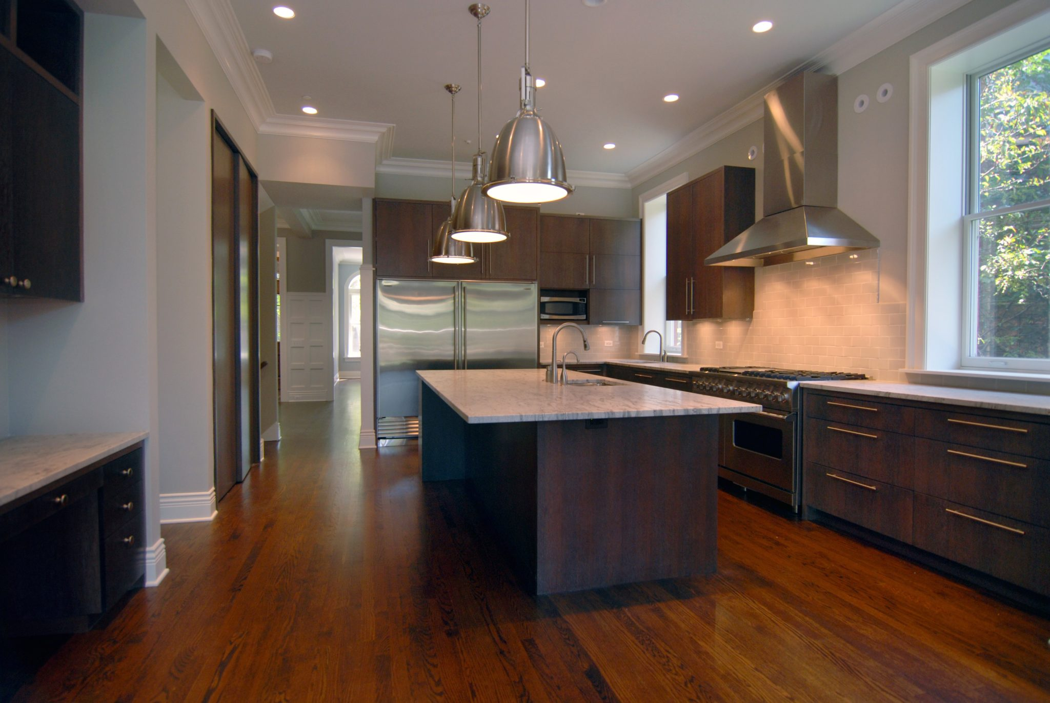 Custom kitchen in a complete home renovation by Wiley Designs, LLC