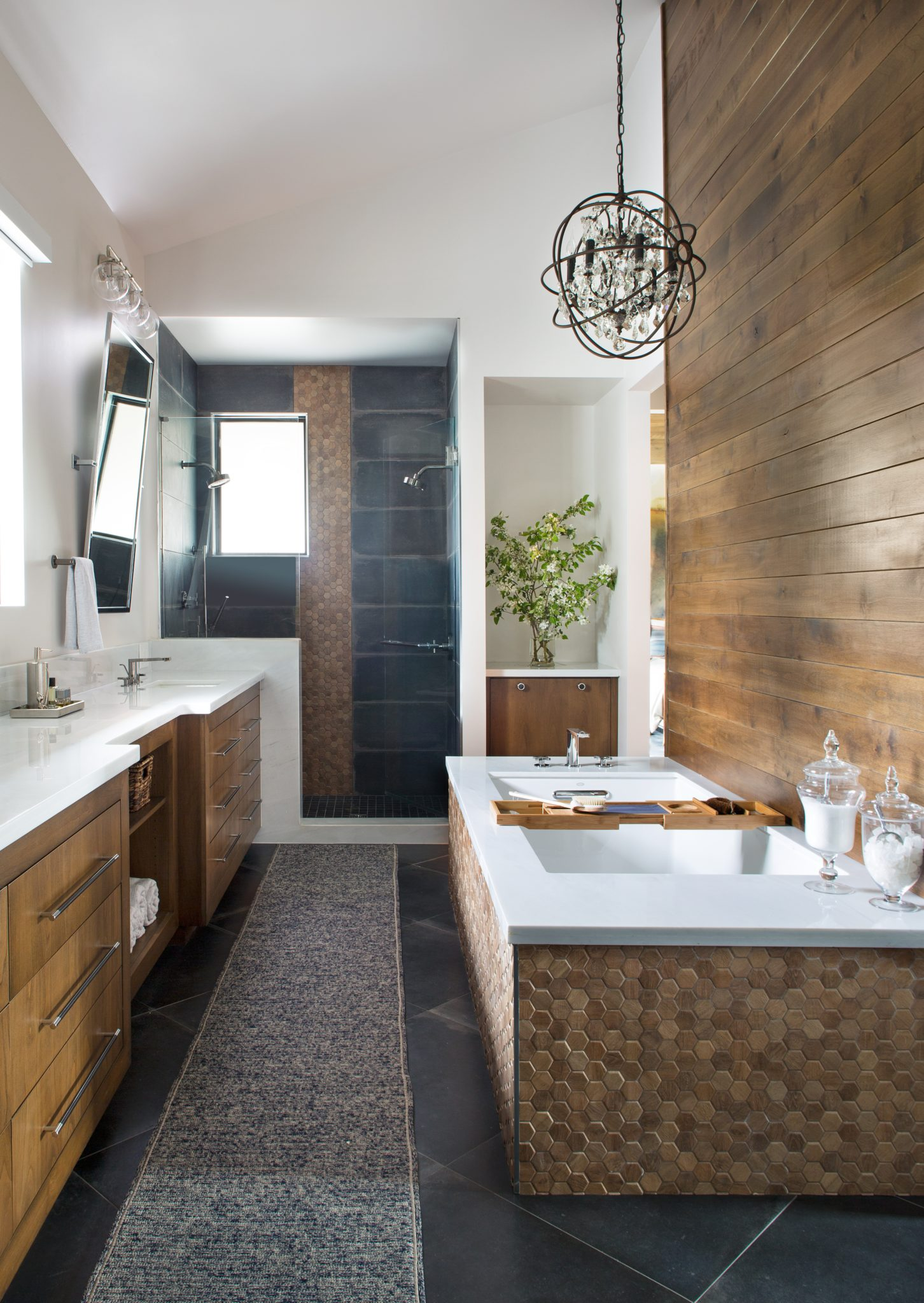 Eclectic Denver Home, Master Bathroom by Duet Design Group