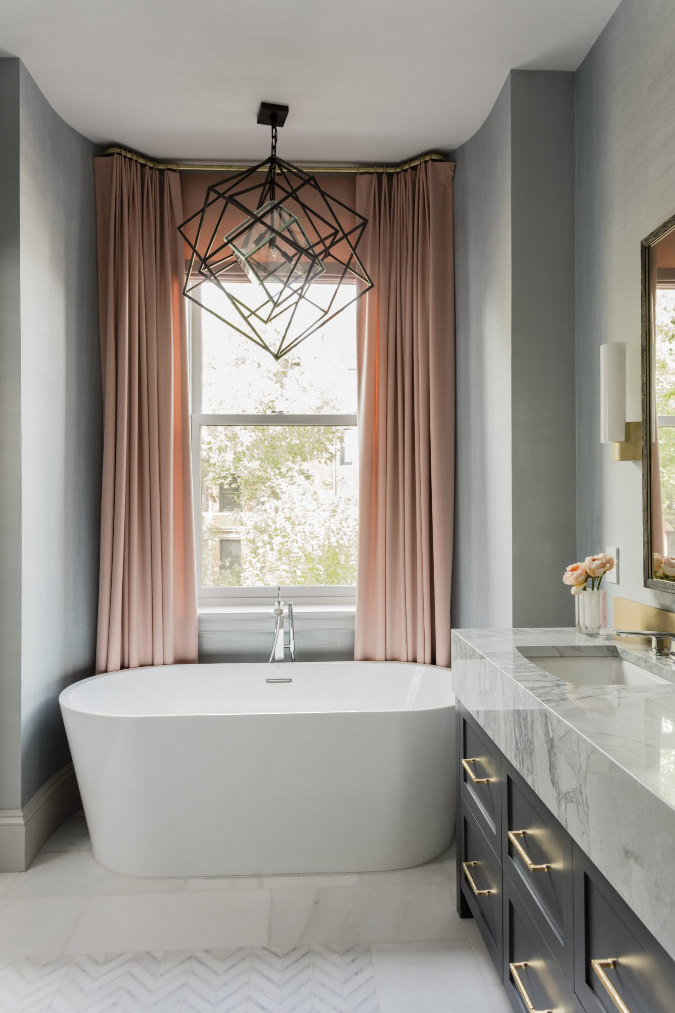 Marlborough Street, Master Bathroom by Elms Interior Design