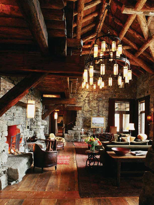 Mountain Ski House Great Room by Peace Design