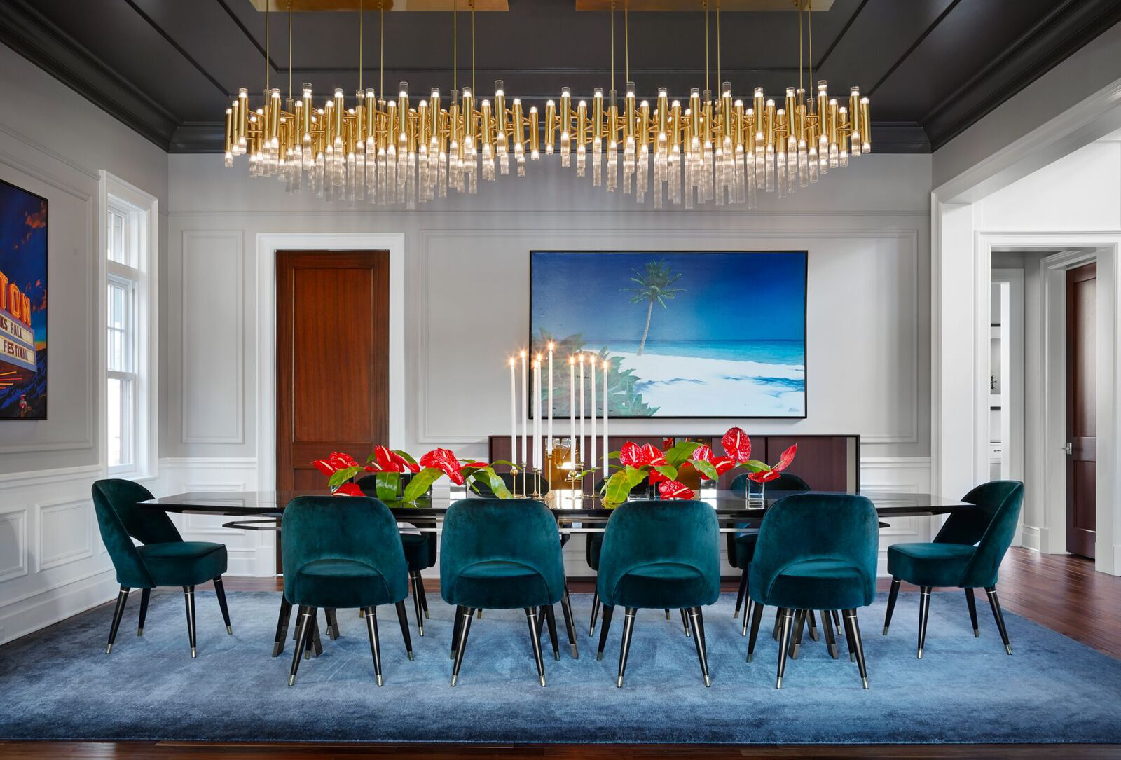 Ravenswood Residence - Sophisticated Custom Furniture & Chandelier by Inspired Interiors