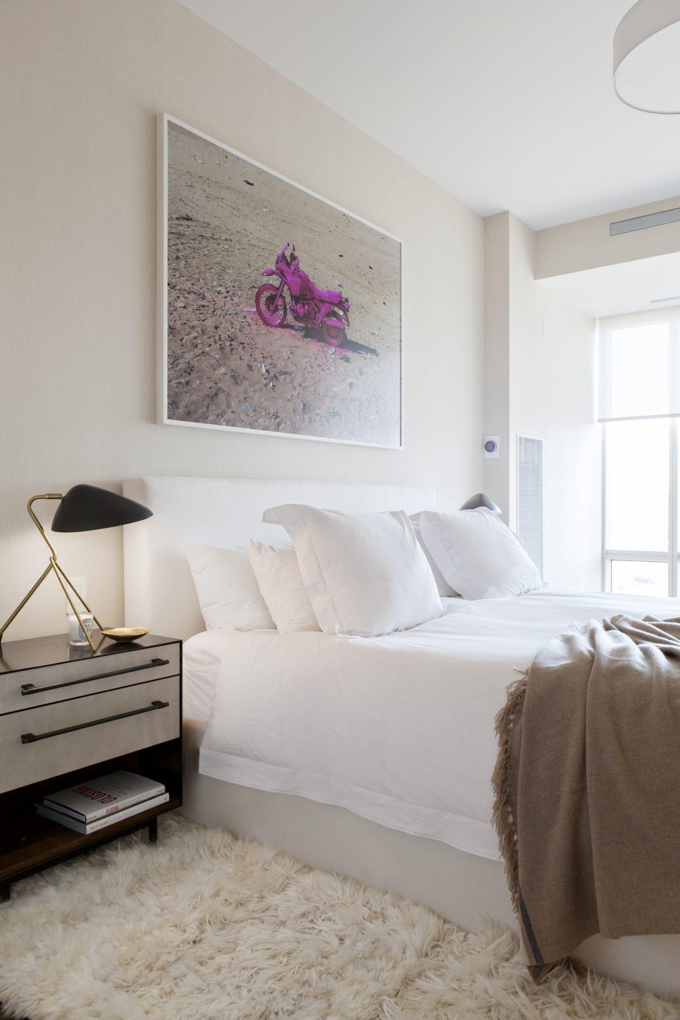 1 Central Park West master bedroom by Jessica Gersten Interiors