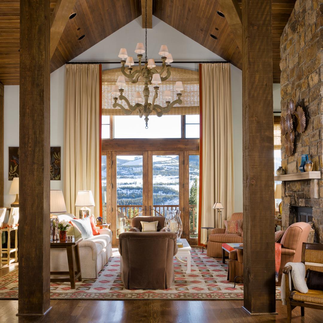 Montana Ski House - Living Room by Gary McBournie Inc.