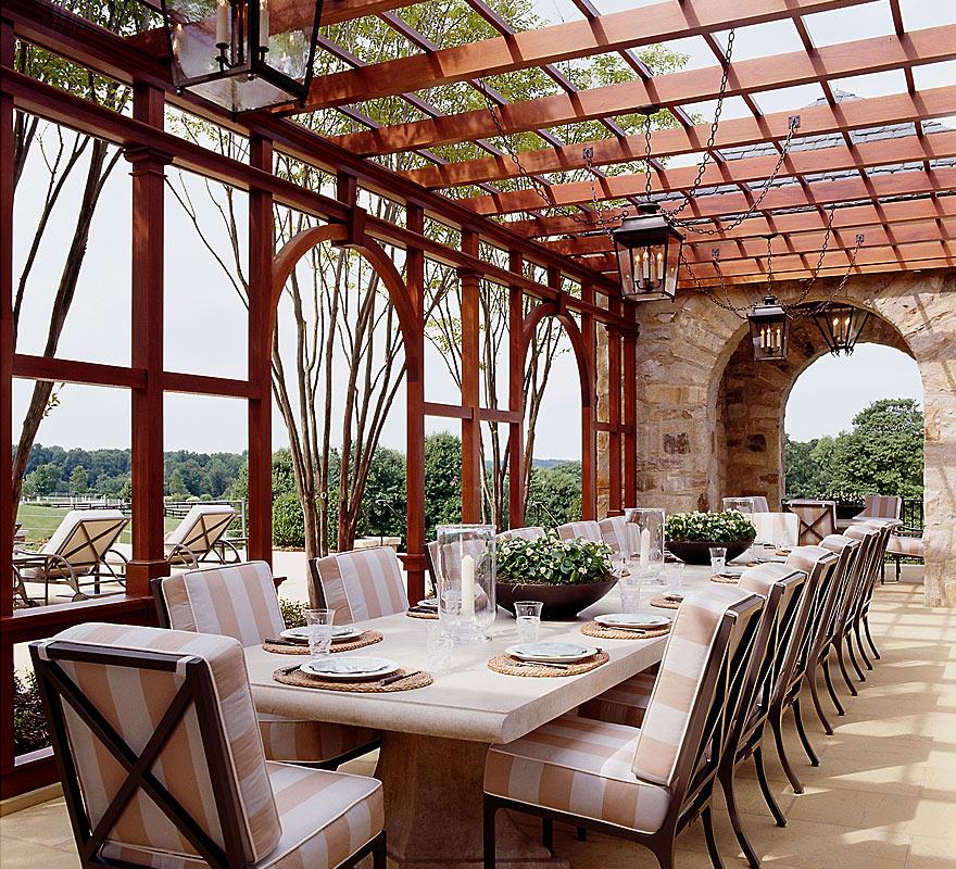 Pool Pavilion Pergola by Anne Decker Architects