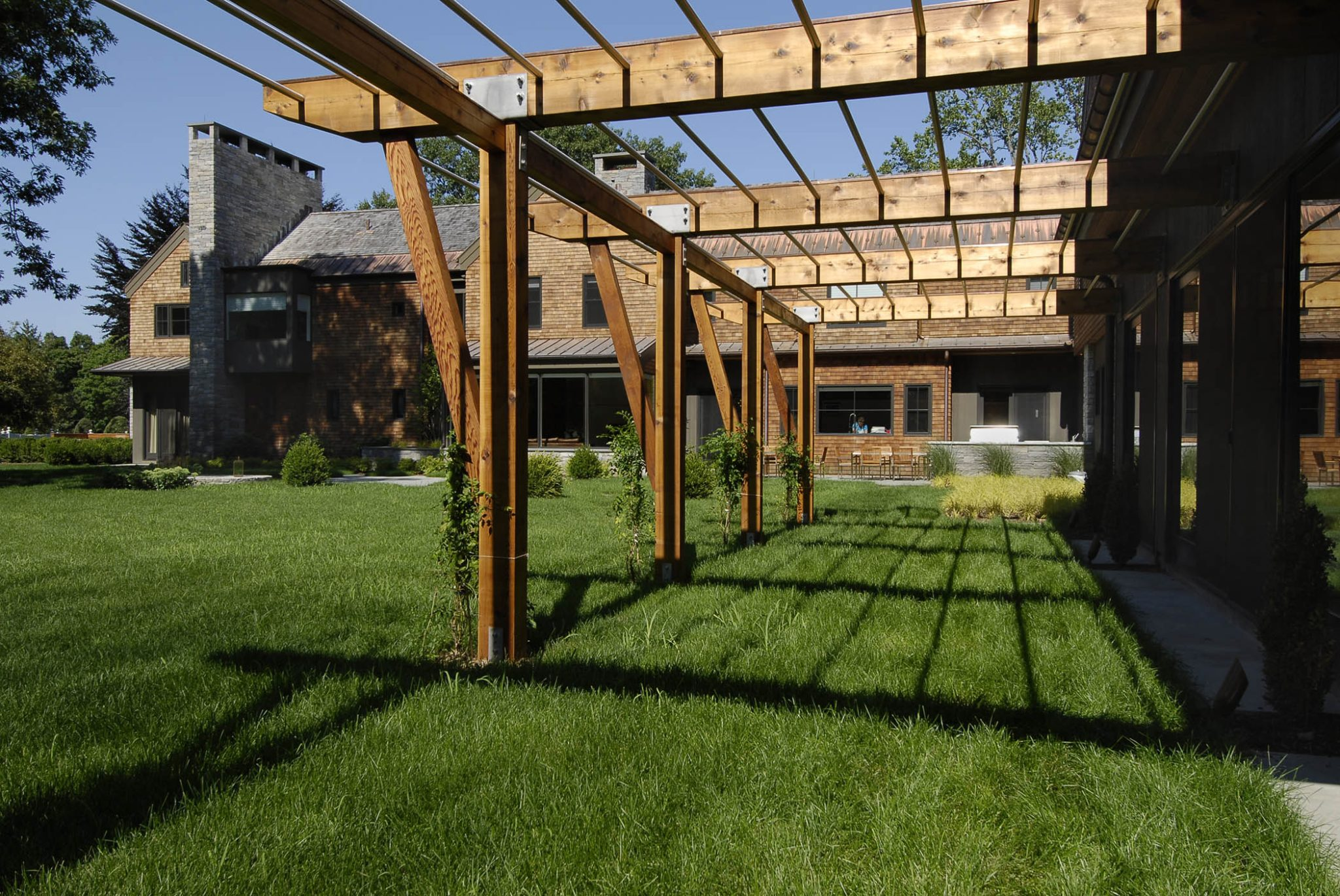 Modern Pergola in Westchester, NY by Carol Kurth Architecture + Interiors