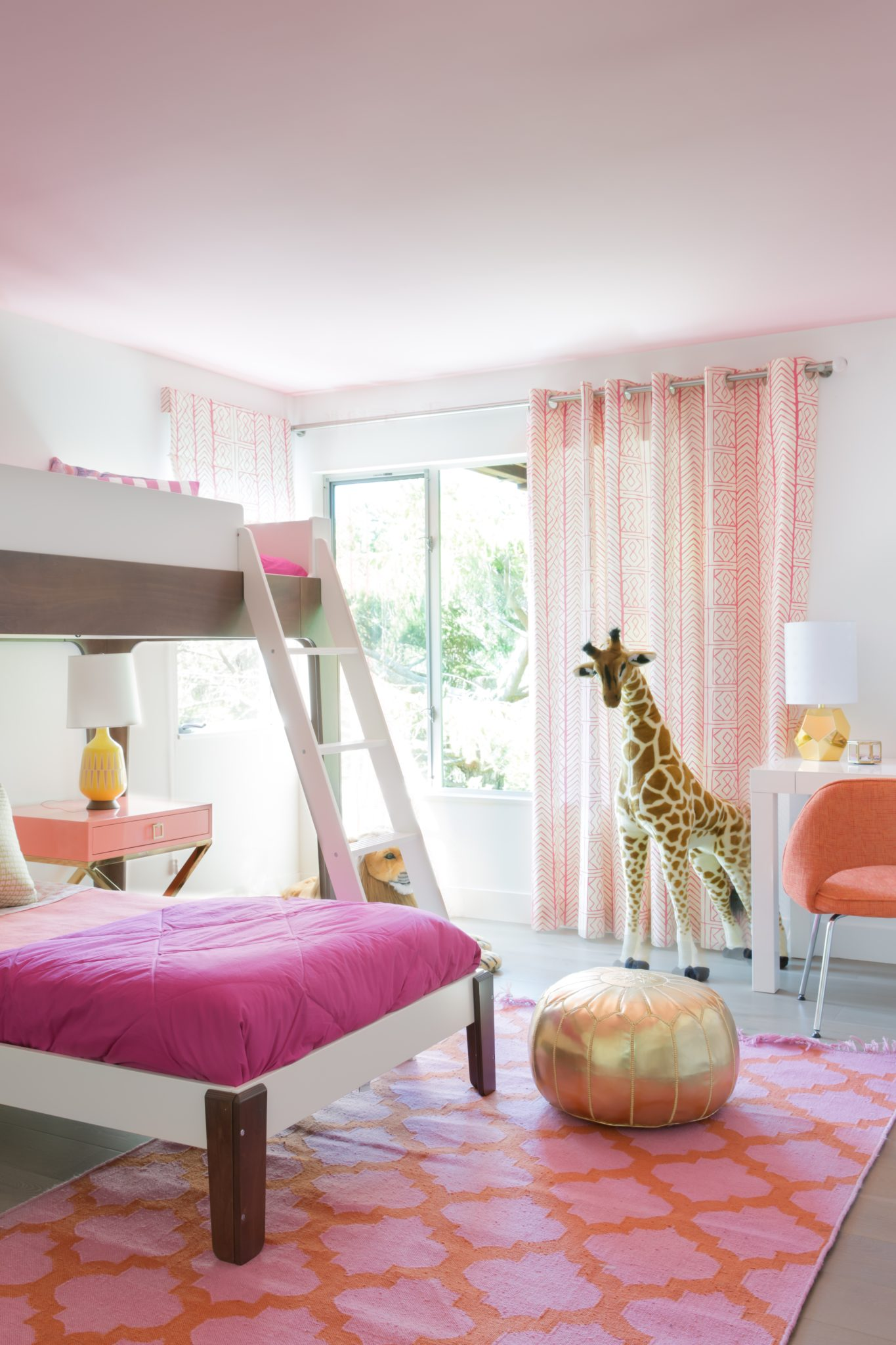 Mountain Mod Project, Girl's Bedroom. Mill Valley, California by Elena Calabrese Design & Decor
