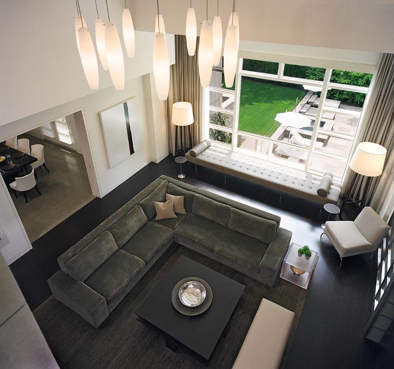 Double Storey Family Room by Douglas Design Studio