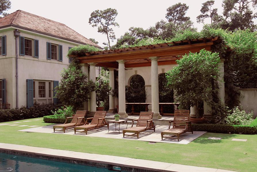 Pool Pergola, Knollwood Residence, Houston, Texas by Curtis & Windham Architects