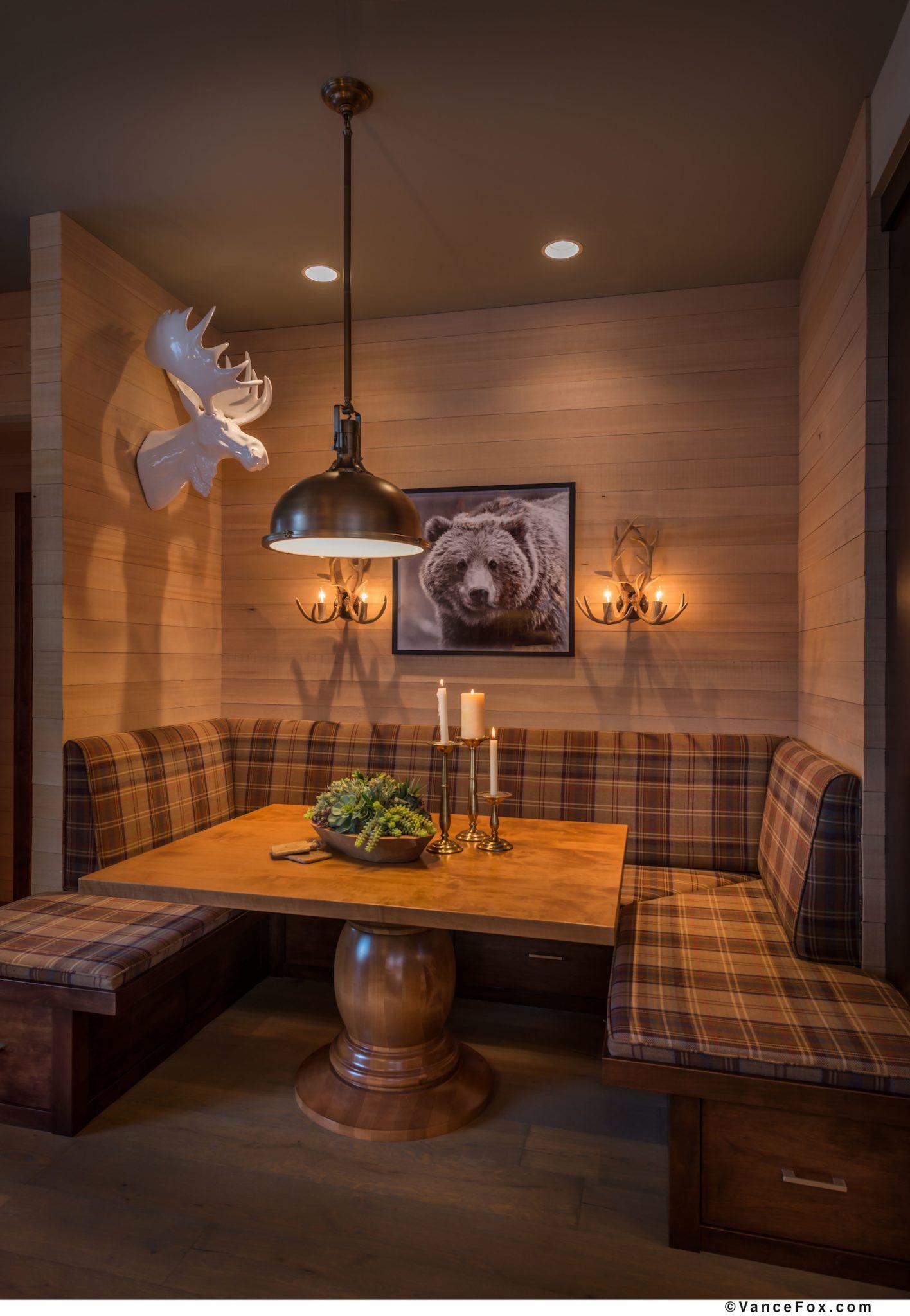 Co - Z Cabin Dining Room by Scott Corridan Design