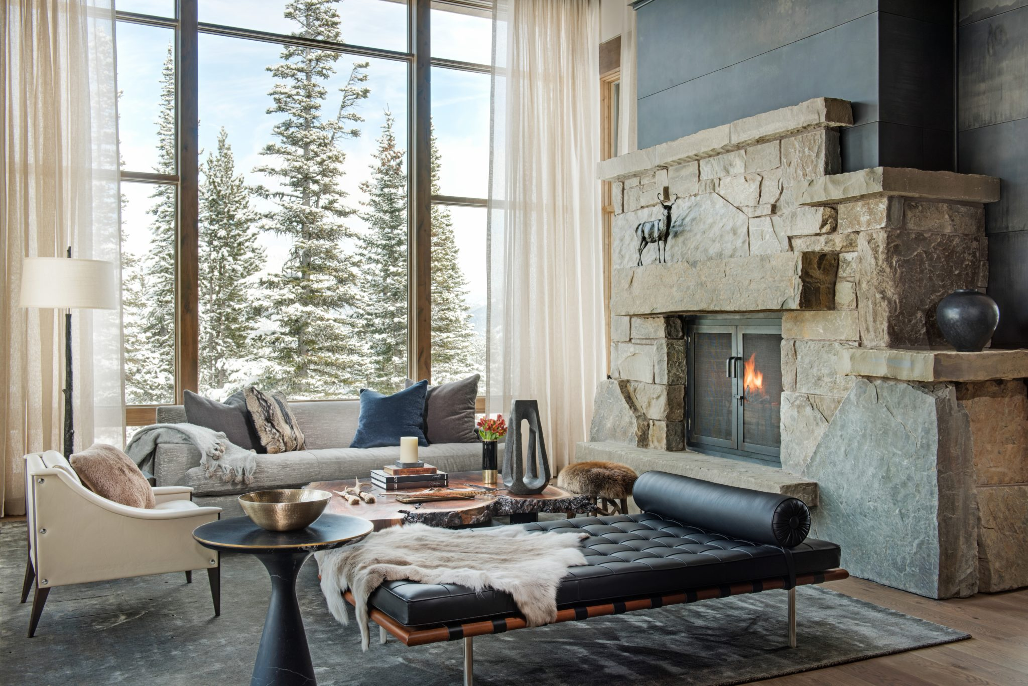 Mountain Modern Living Room by Peace Design