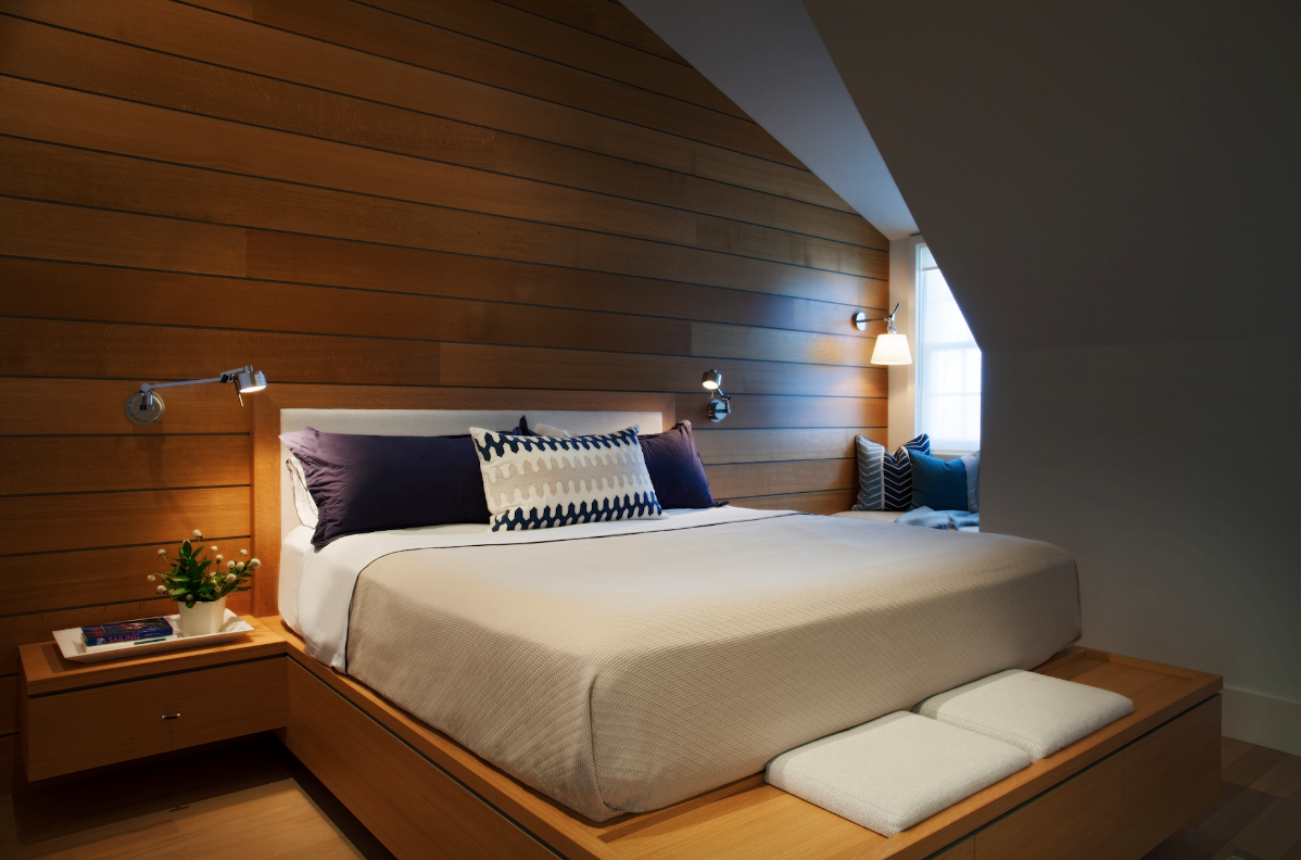 A relaxing bedroom design by Jennifer Palumbo Inc.