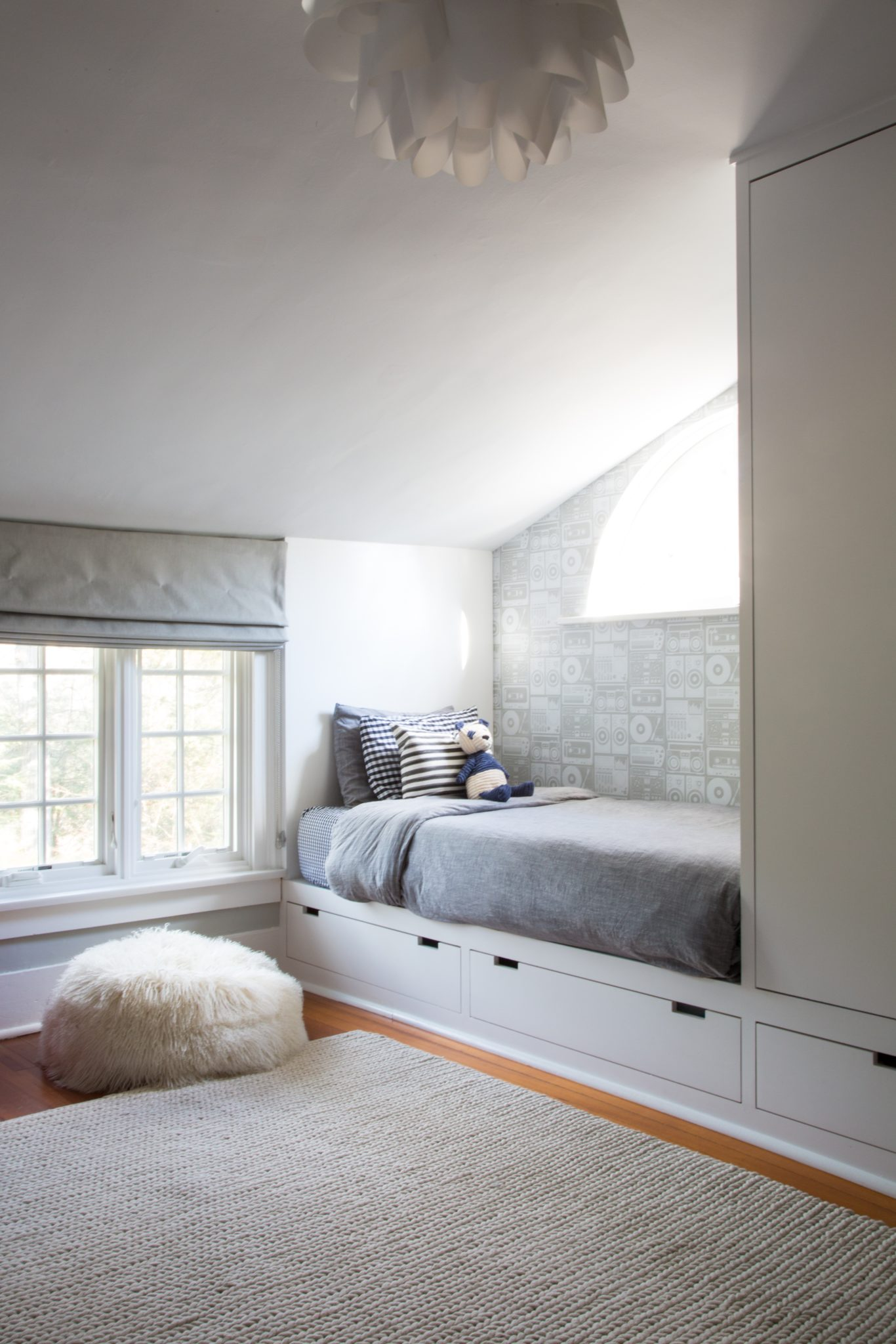 Kids Bdrm with Built in Bed/Closet by Lauren A Balkan Designs