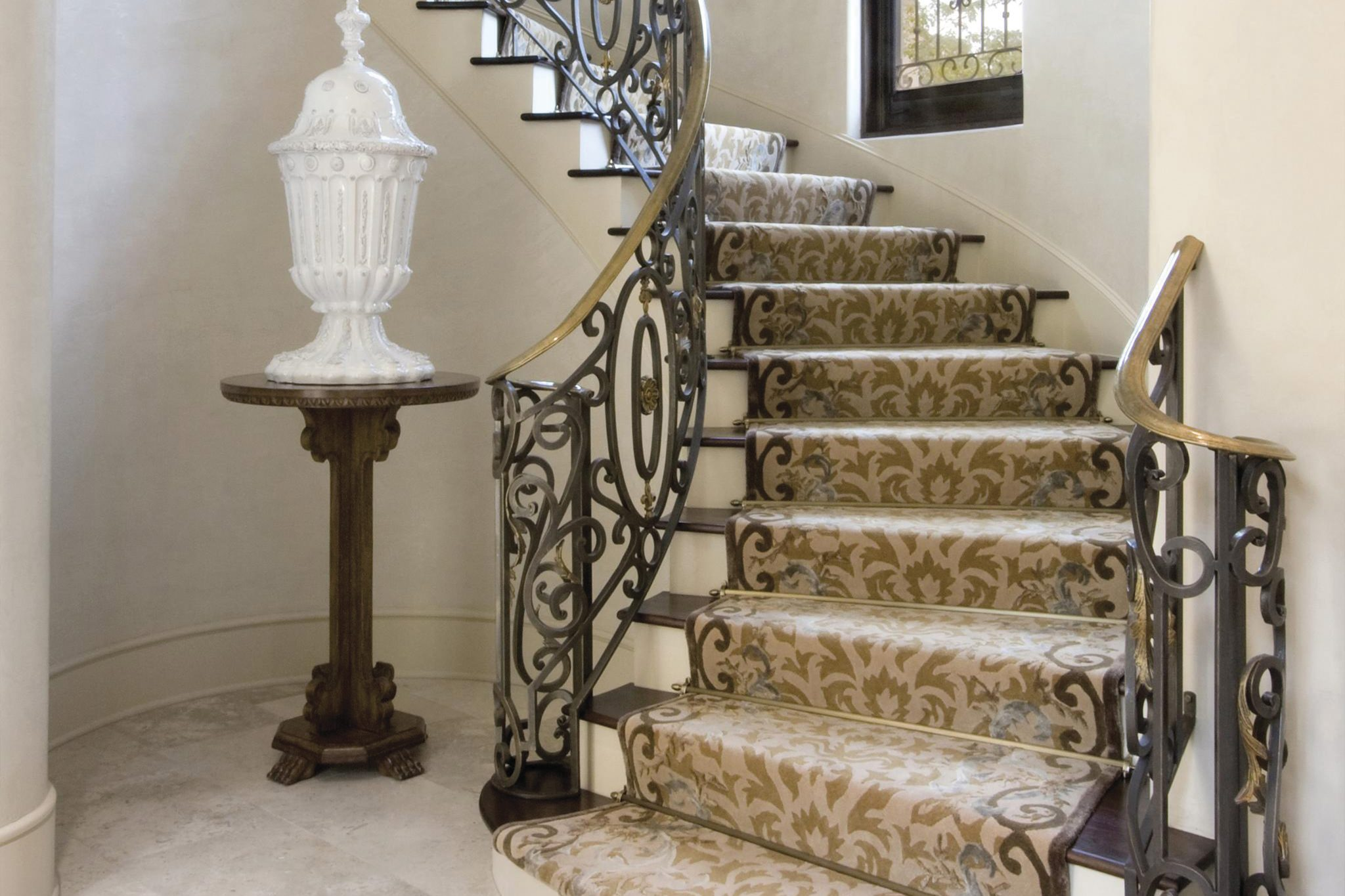 Staircase installation, by Hokanson. by Scott Group Studio