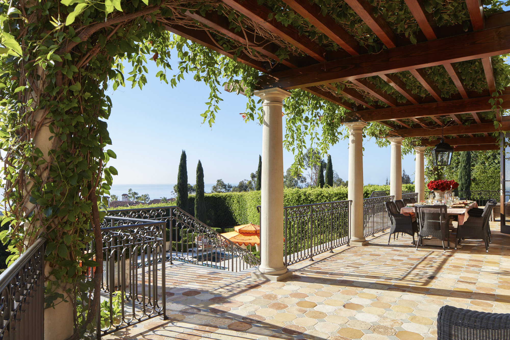 Pergola and Terrace with Ocean View by Paul Brant Williger, Architect Inc.
