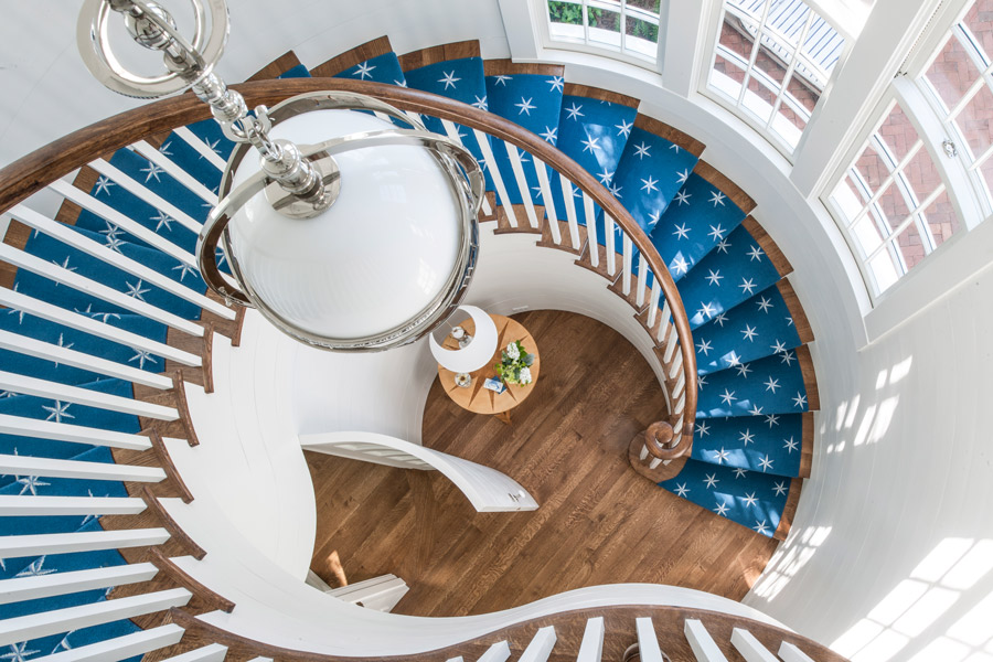 Stair, Seaside Avenue Residence, Seaside, Florida by Curtis & Windham Architects