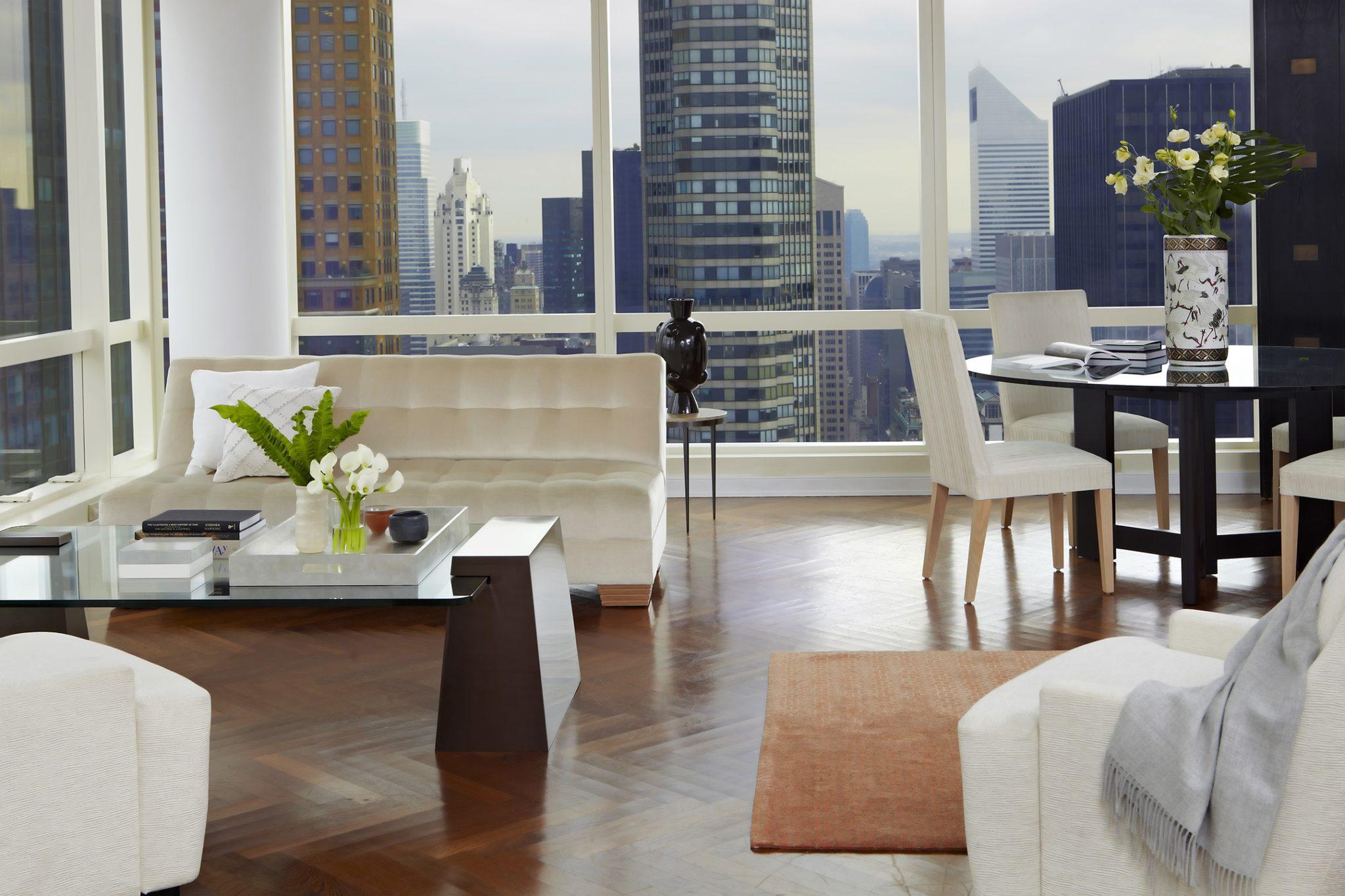 Daniel Craig apartment - living room by Jarret Yoshida