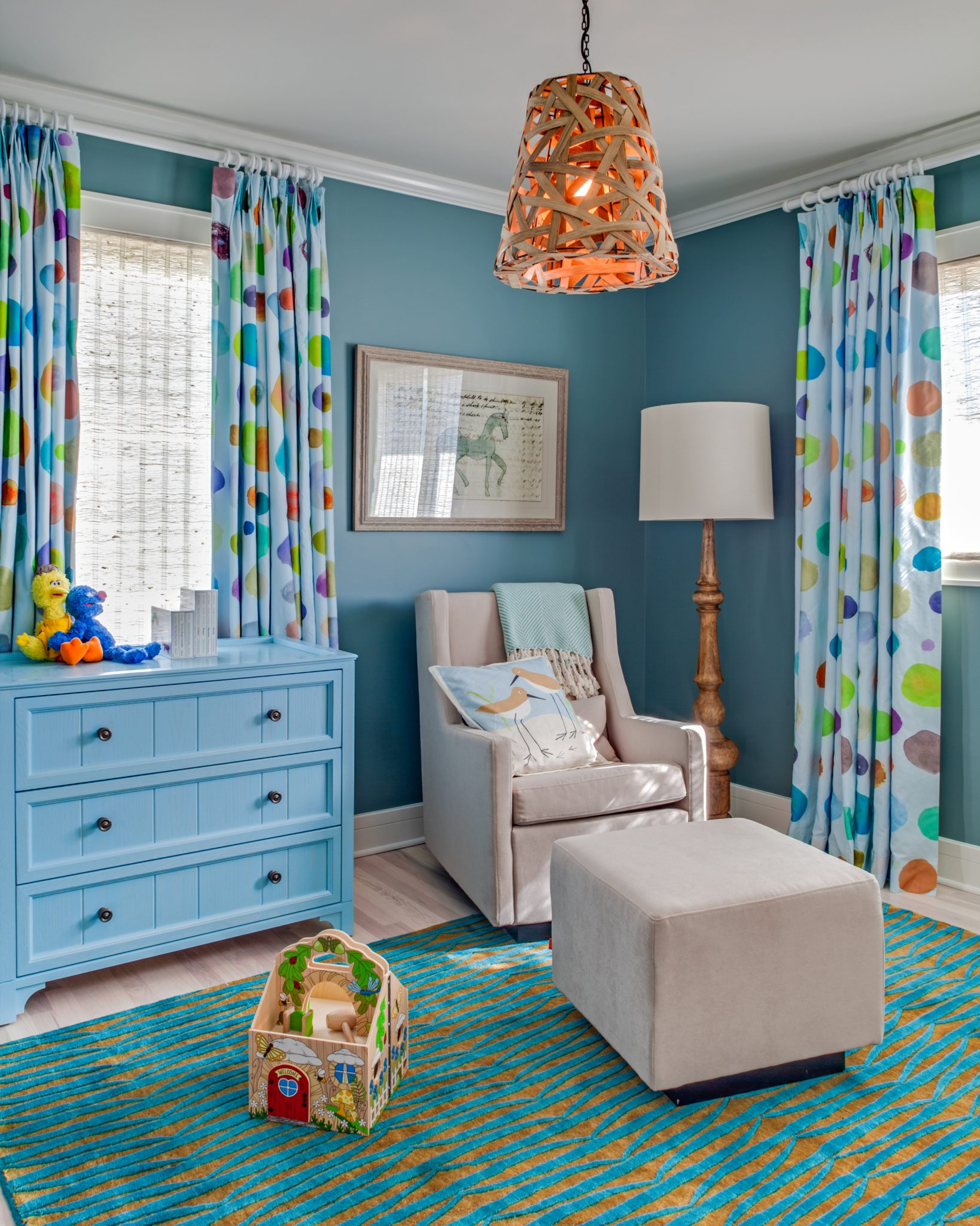 Hamptons Summer Home - Children's Room by Kati Curtis Design