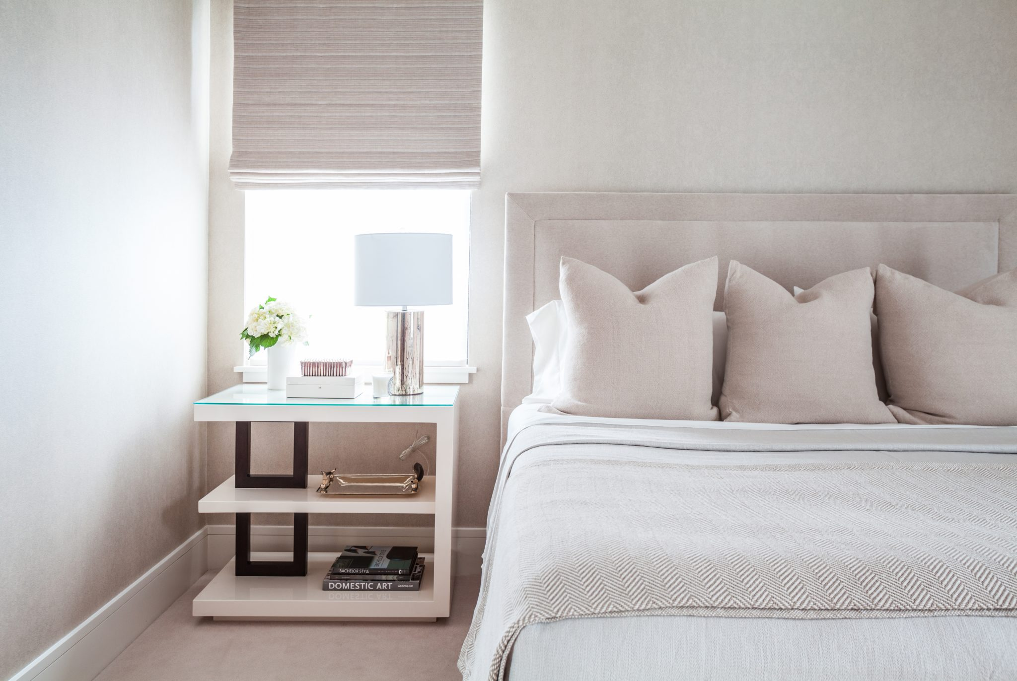 Masculine bedroom by Chandos Interiors