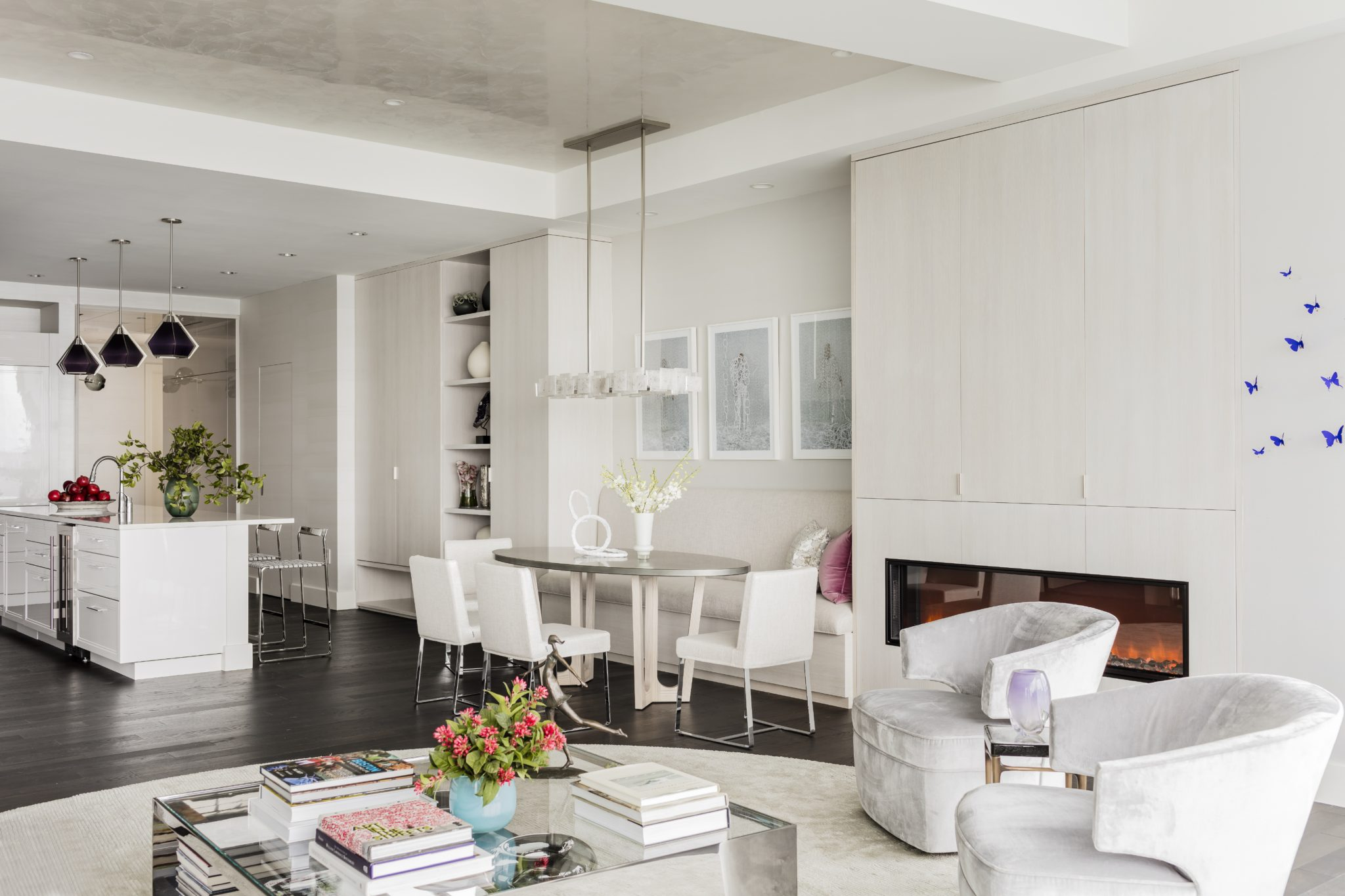 Seaport High Rise, Living Area by Elms Interior Design