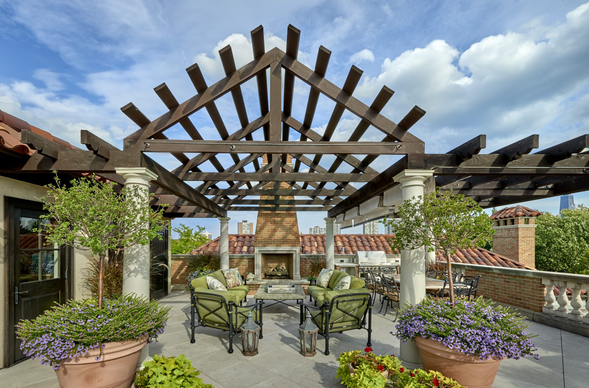 Rooftop Pergola in Lincoln Park by BGD&C Custom Homes