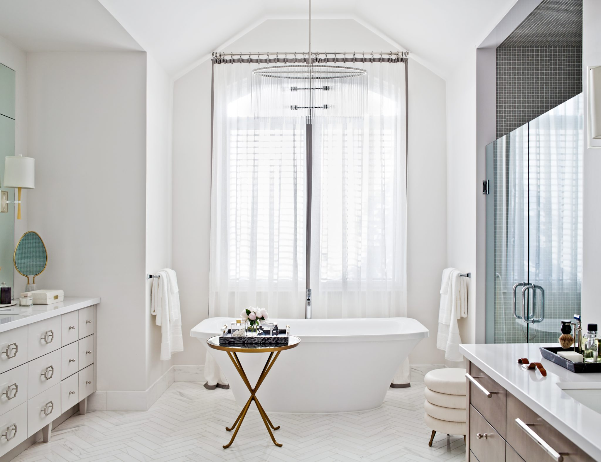 Master en suite designed by Elizabeth Metcalfe Interiors & Design Inc.