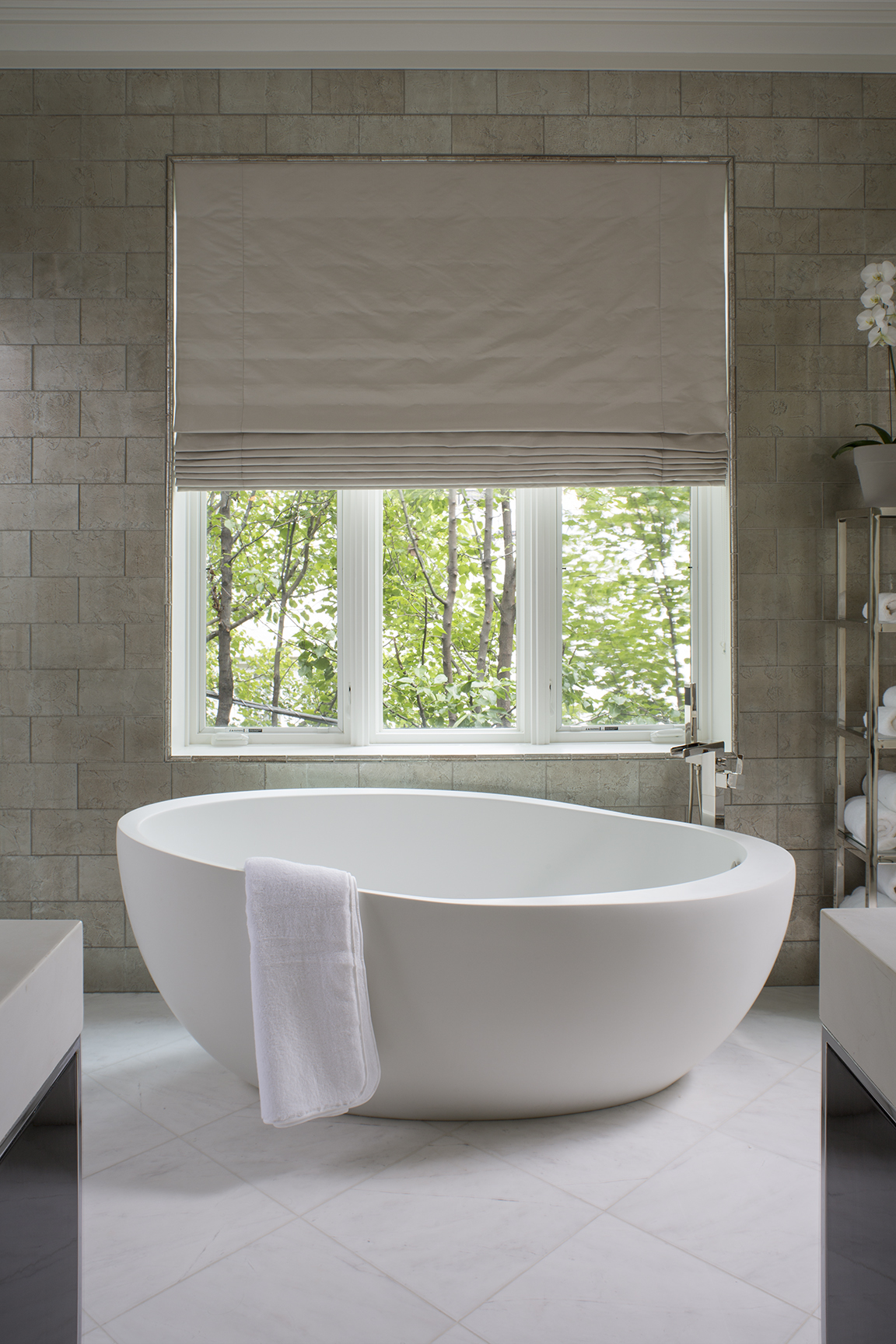 Urban elegance - master bath by Wendy Labrum Interiors