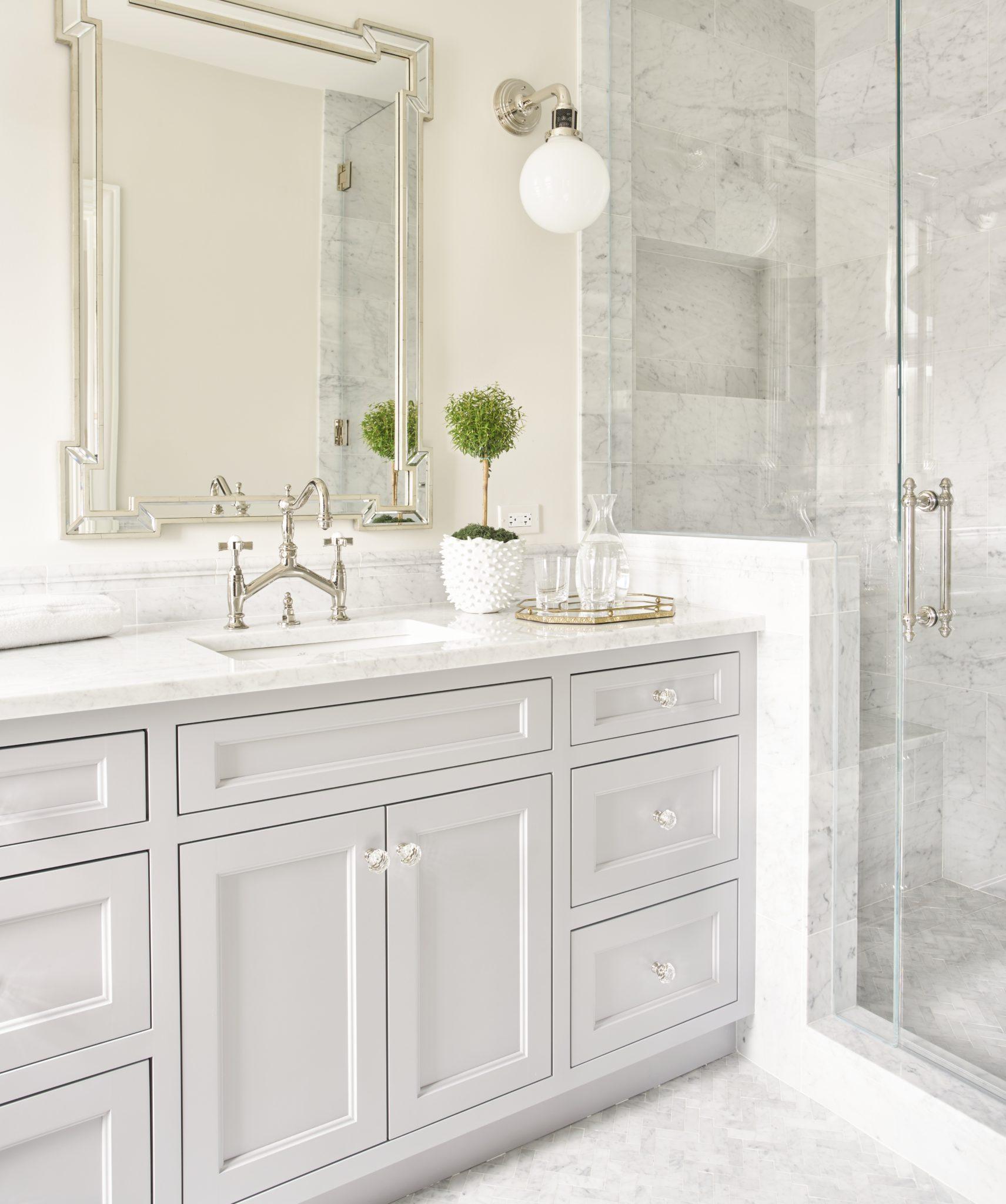 Lincoln Park Co-op Bathroom by Kim Scodro Interiors