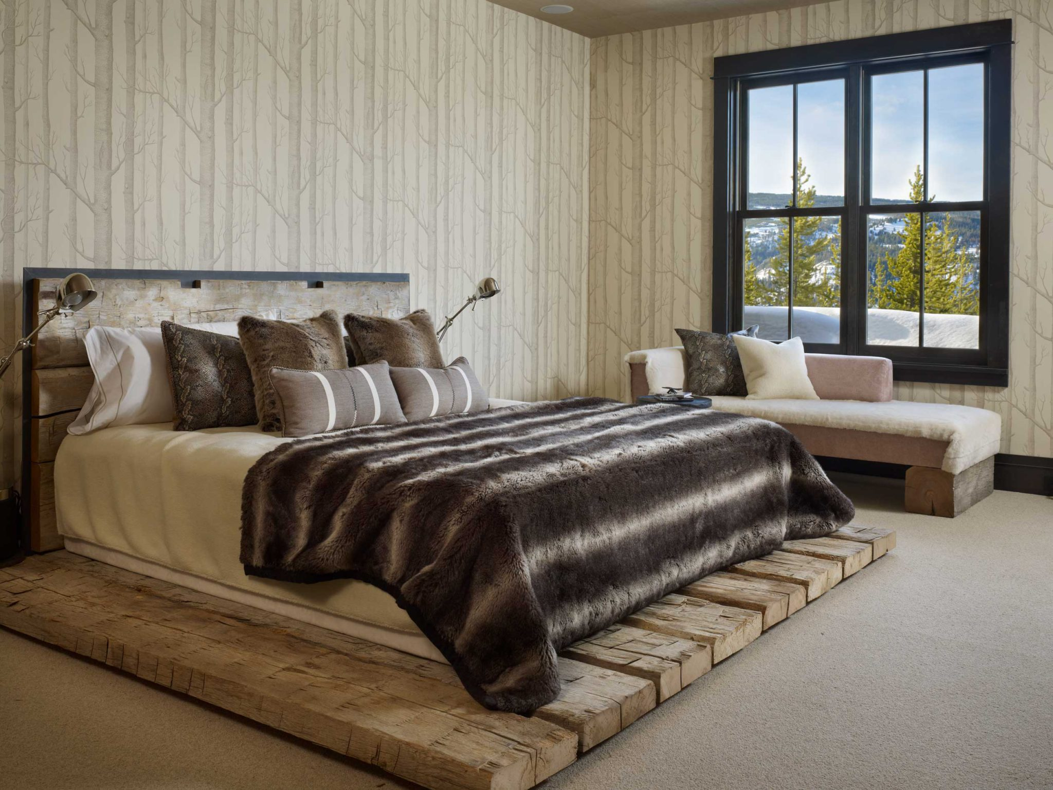 High Alpine Ranch Residence, Guest Bedroom - Yellowstone Club, MT, by LKID