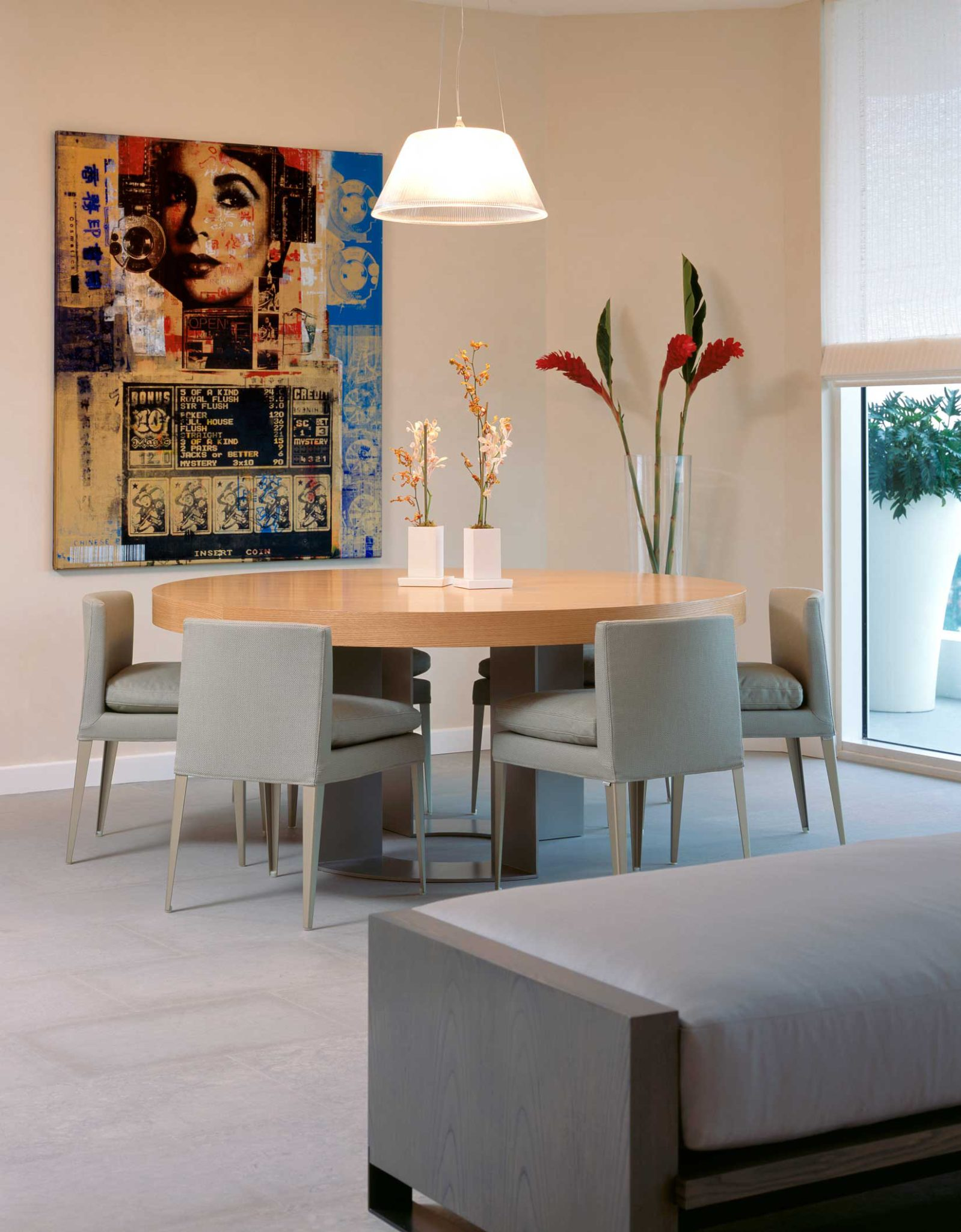 Atlantic One Residence - Miami, Florida - dining room by LKID