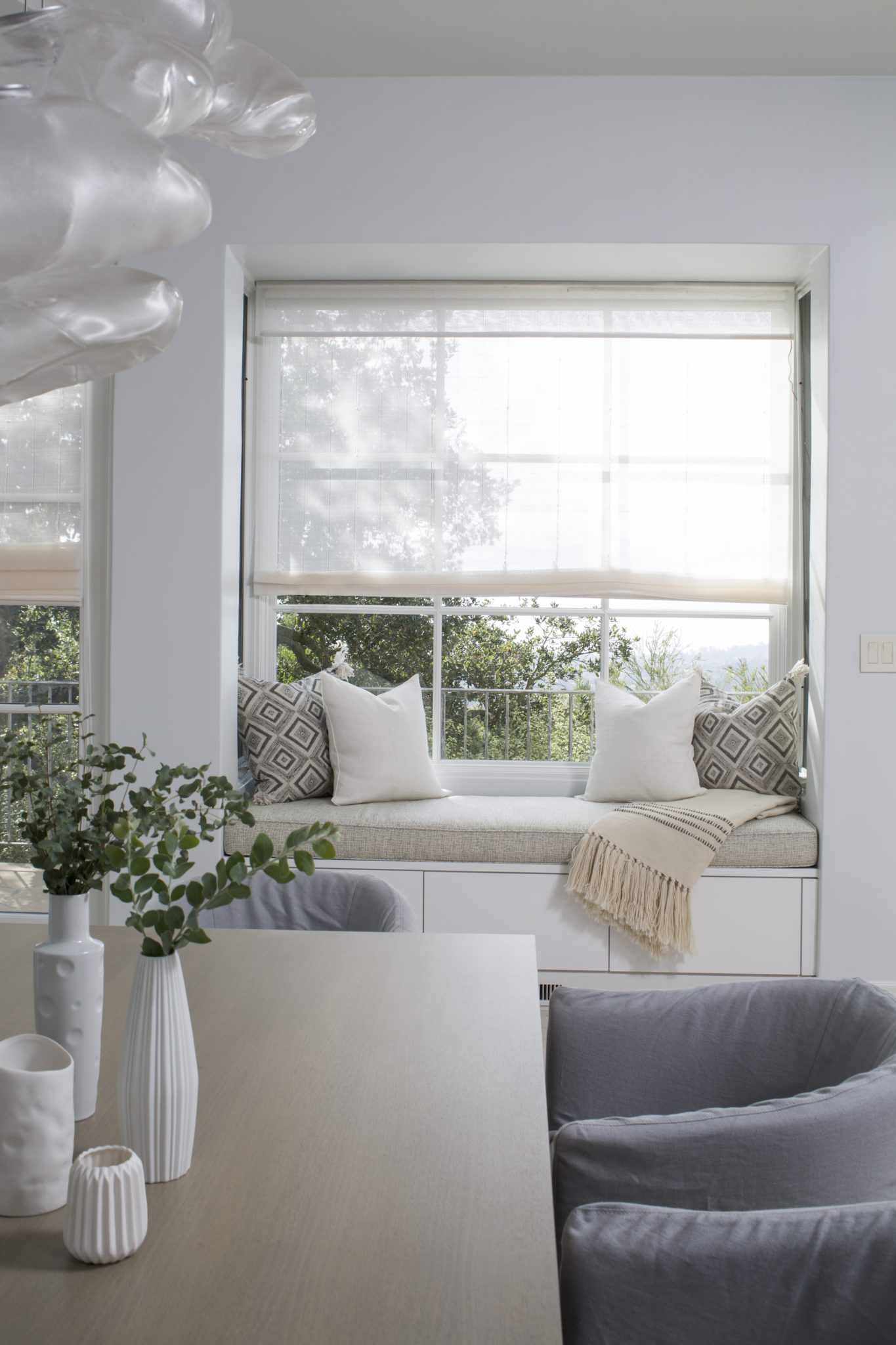 Bella Vista built-in window seating - Santa Barbara, California, by SFA Design