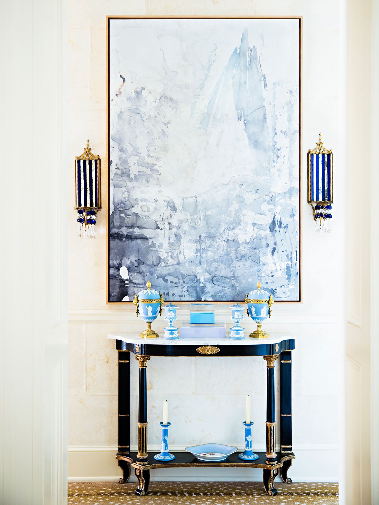 Hallway Vignette by Amanda Nisbet Design