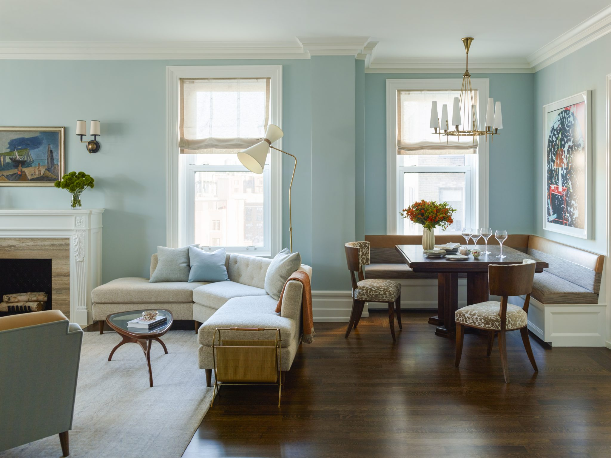 West End Living + Dining Area by Mendelson Group, Inc.