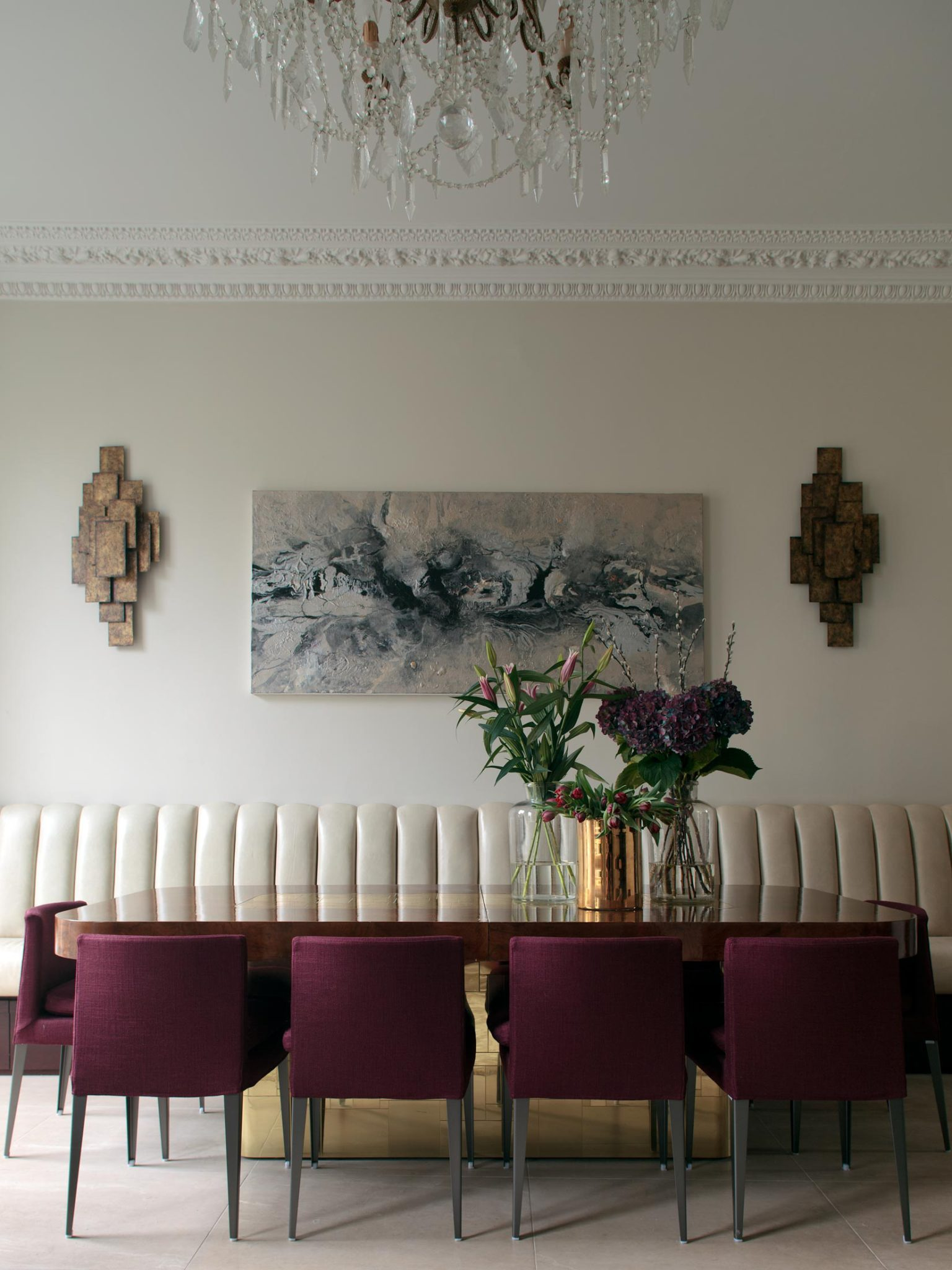 Notting Hill dining room with Paul Evans table by Staffan Tollgard