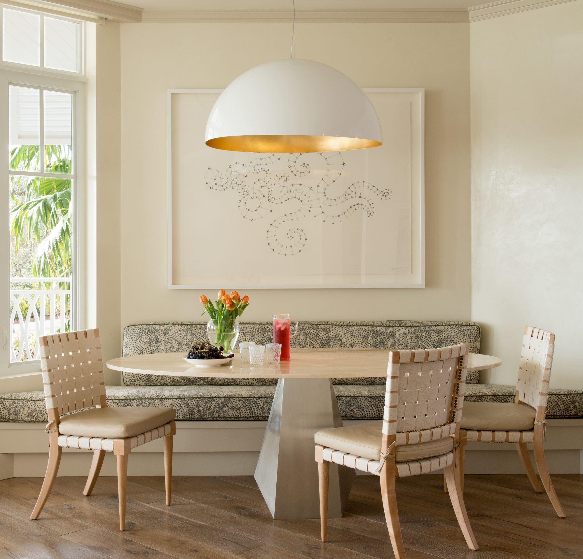 Breakfast nook by Huntley & Co. Interior Design