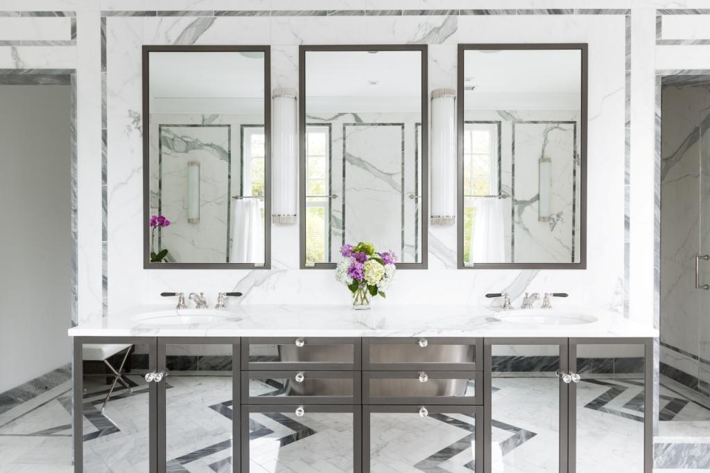 Master bath vanity by Alisberg Parker Architects