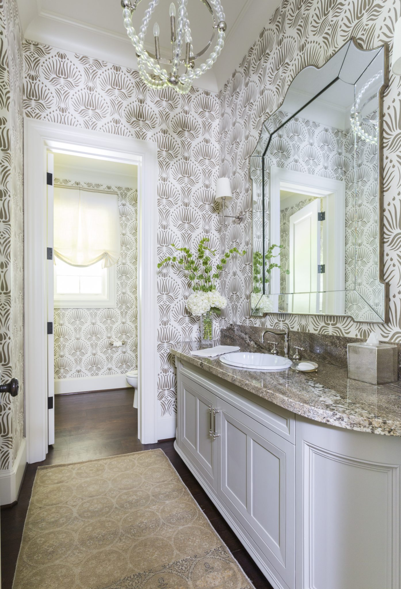 Patterned Powder Room by Lucas Eilers Design Associates, LLP