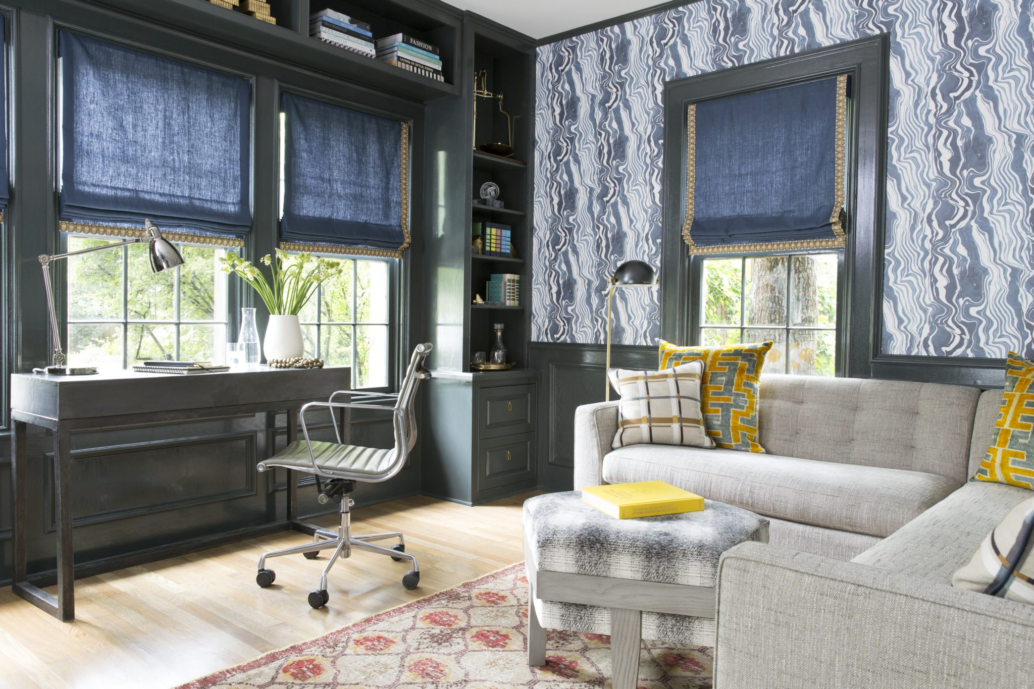 Home office, Tarrytown. By Annie Downing Interiors