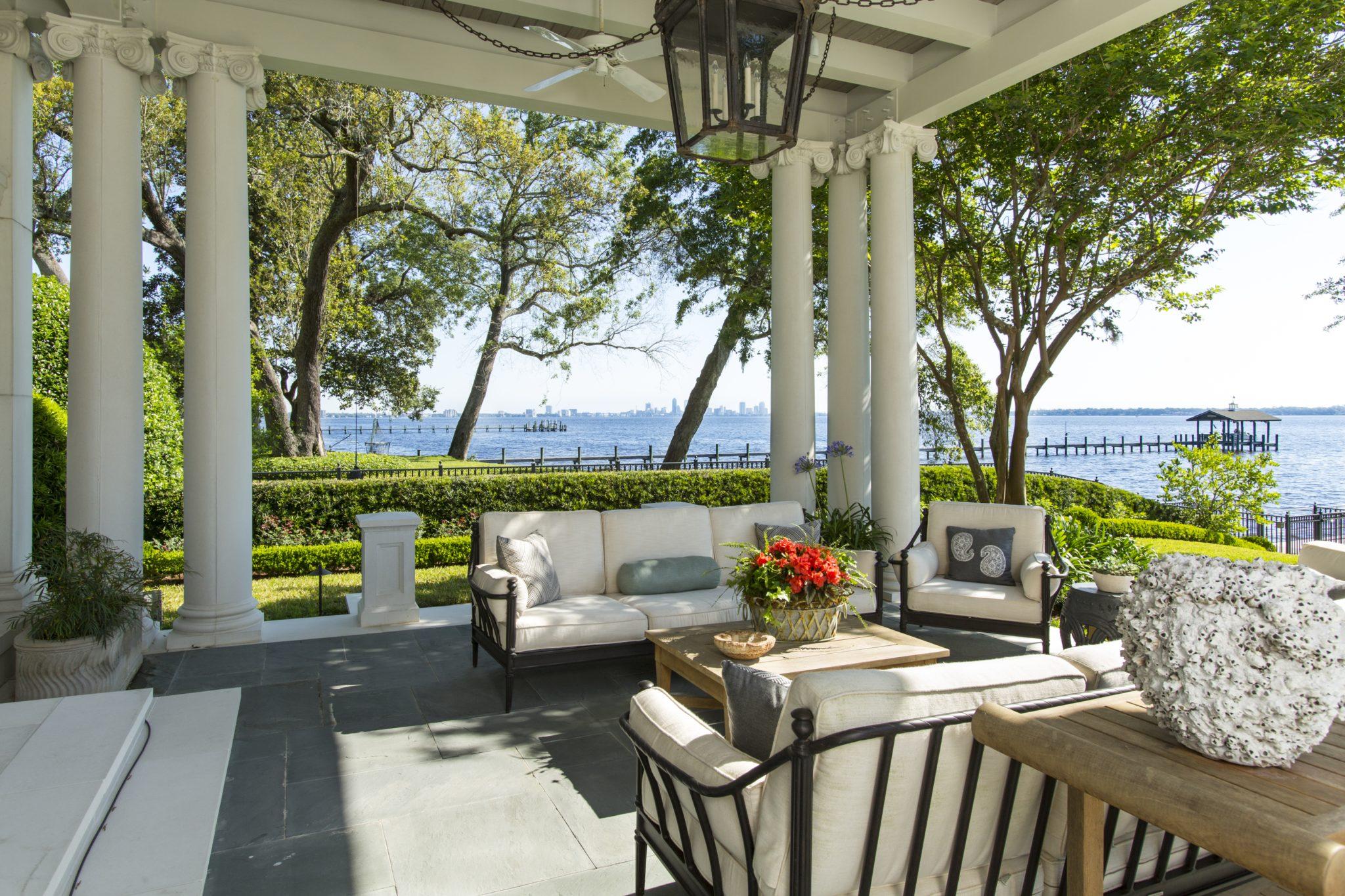 Ortega Riverfront Home- Jacksonville, Florida. Porch. by Catlin Design