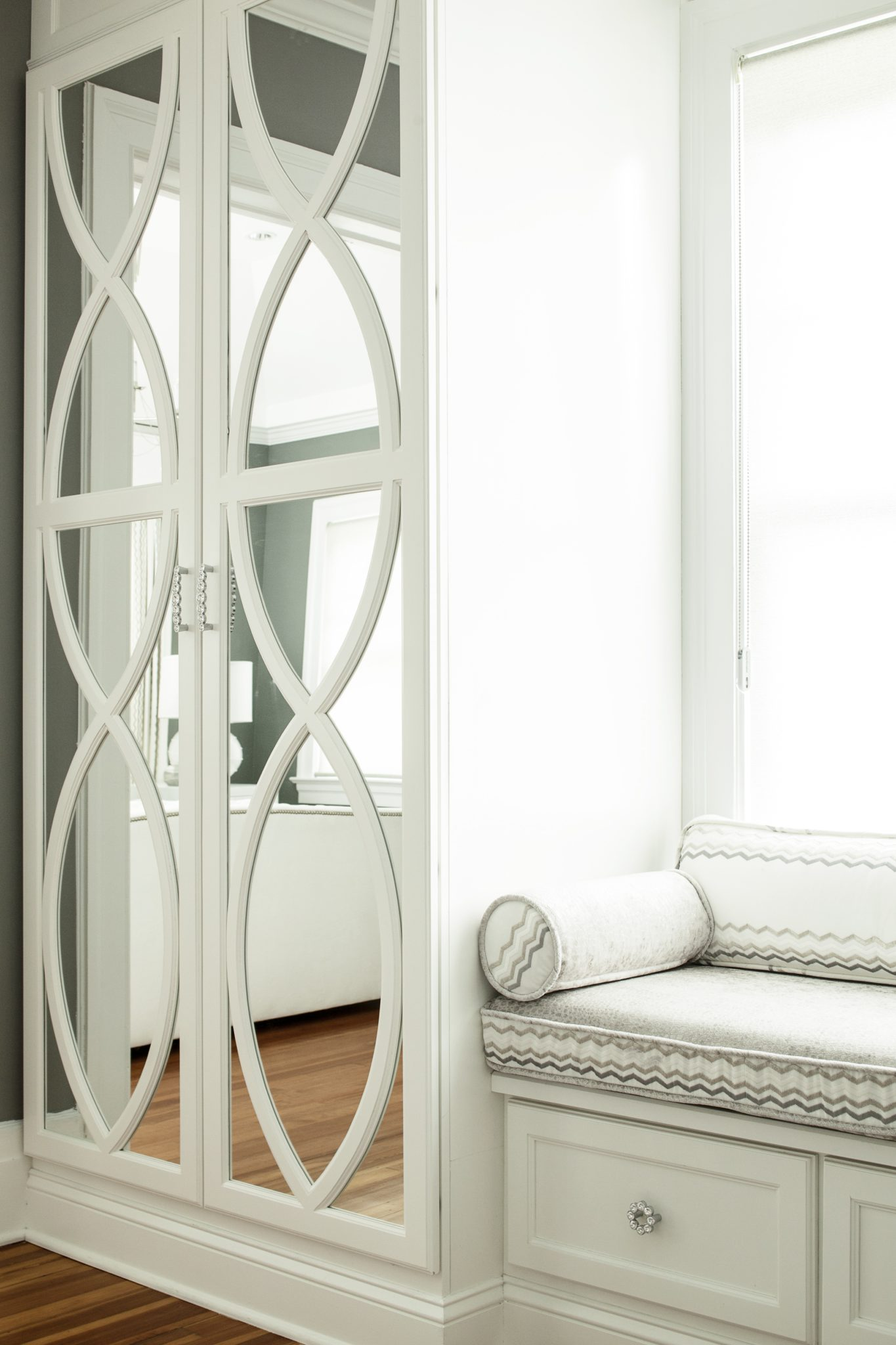 Custom built-in detail by Karen B Wolf Interiors