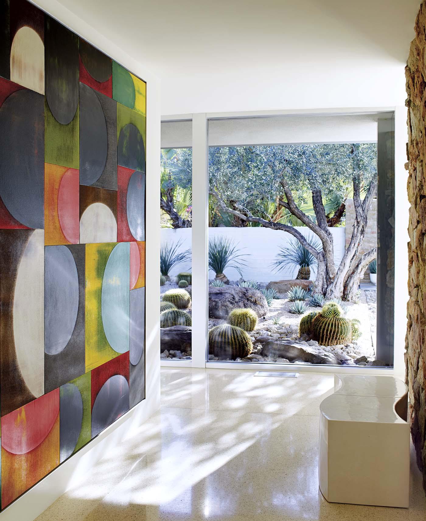 Palm Springs Home - Hallway by Harte Brownlee & Associates