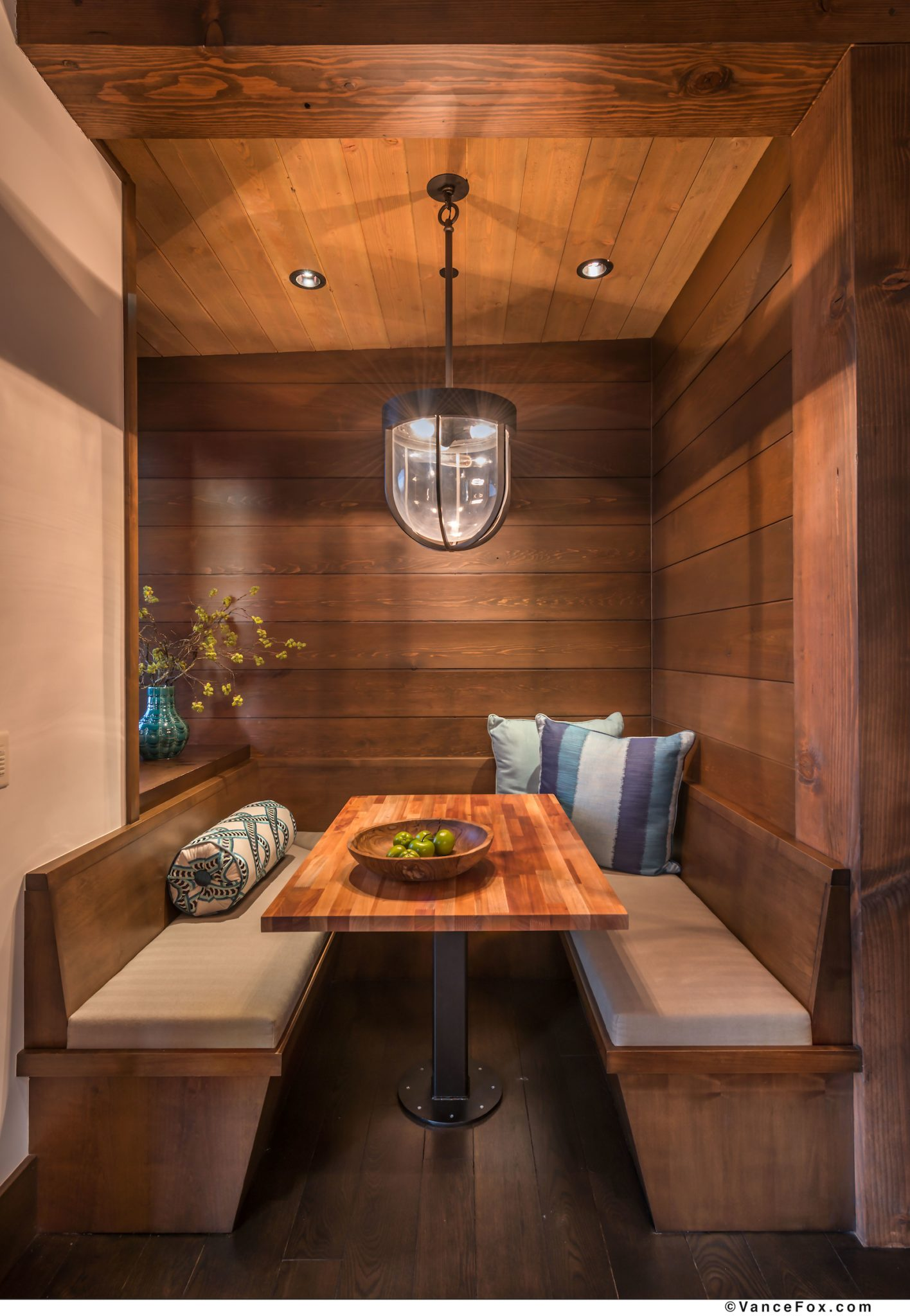 Martis Camp dining nook by Scott Corridan Design