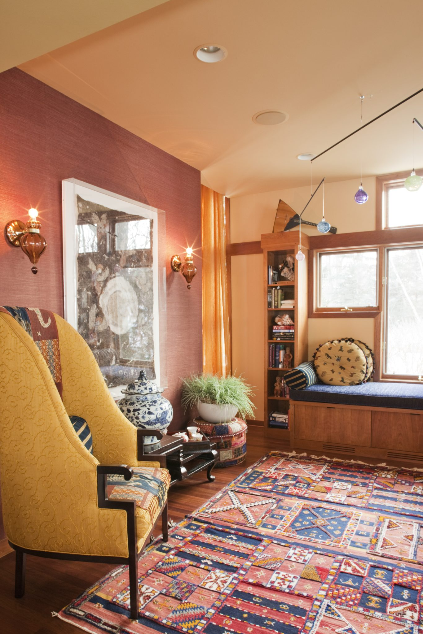 Globally-Inspired Home Office by Susan E. Brown Interior Design